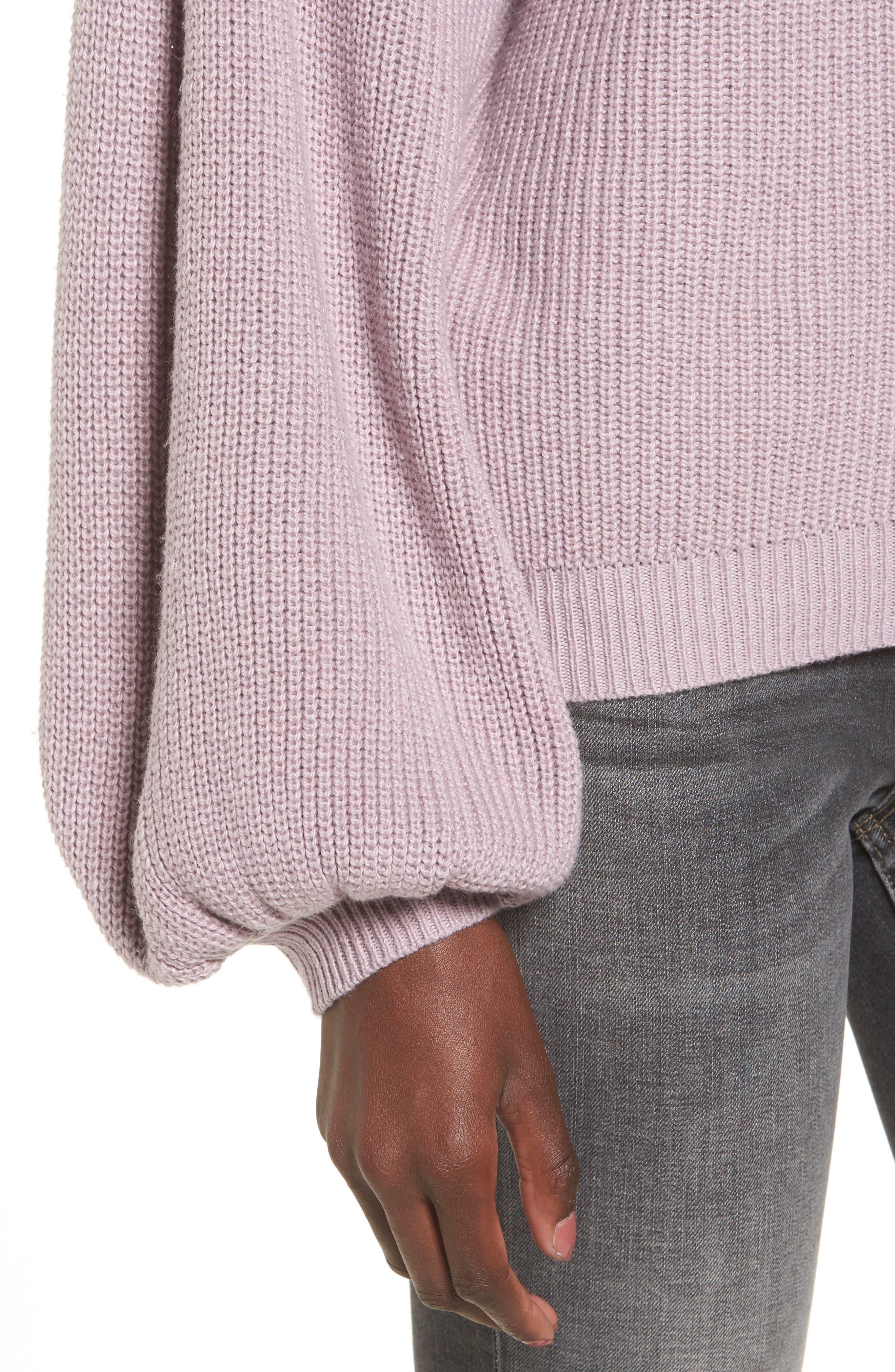 Blouson Sleeve Sweater,                             Alternate thumbnail 19, color,