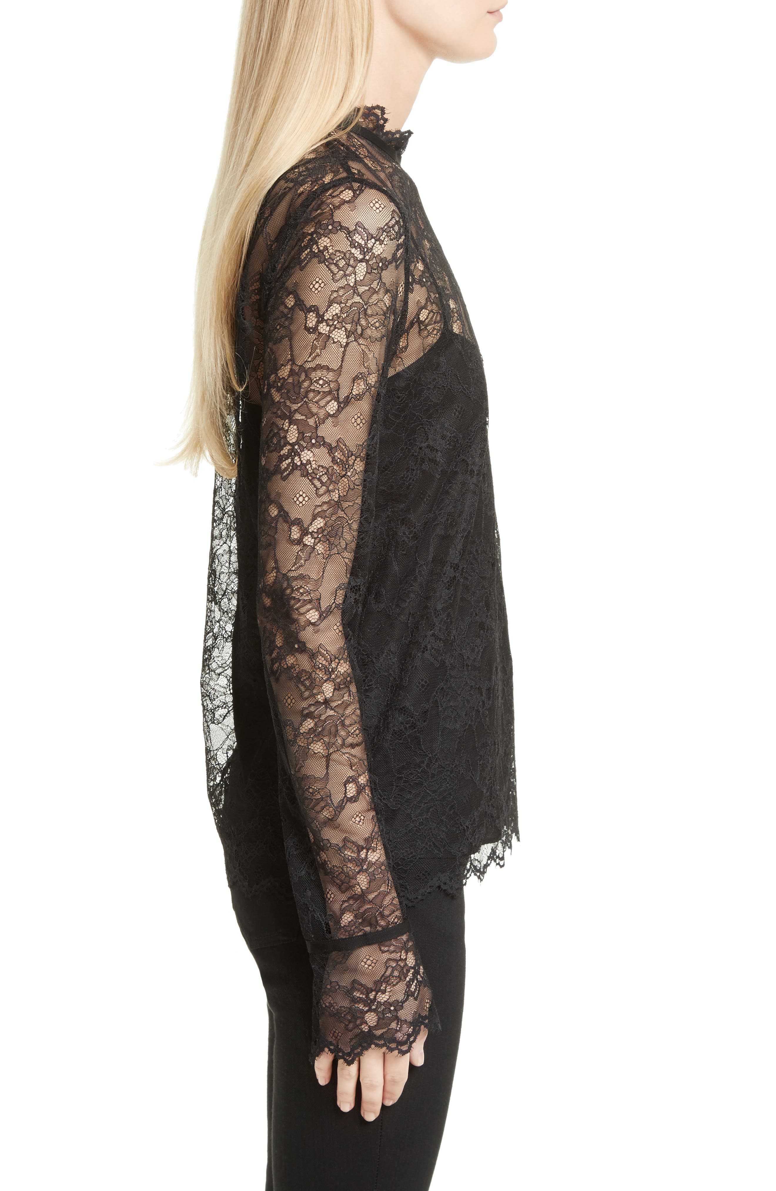 Lace Top with Tank,                             Alternate thumbnail 3, color,                             001