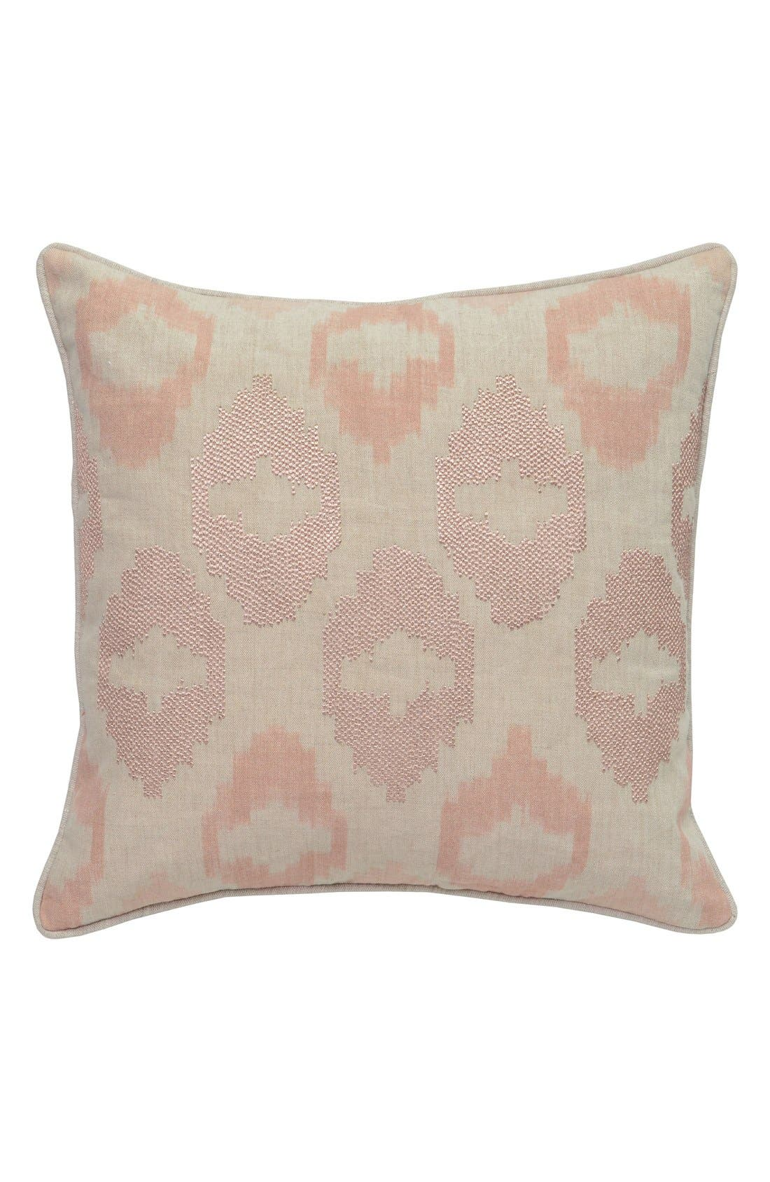 Mira Accent Pillow,                         Main,                         color, BEIGE/ BLUSH