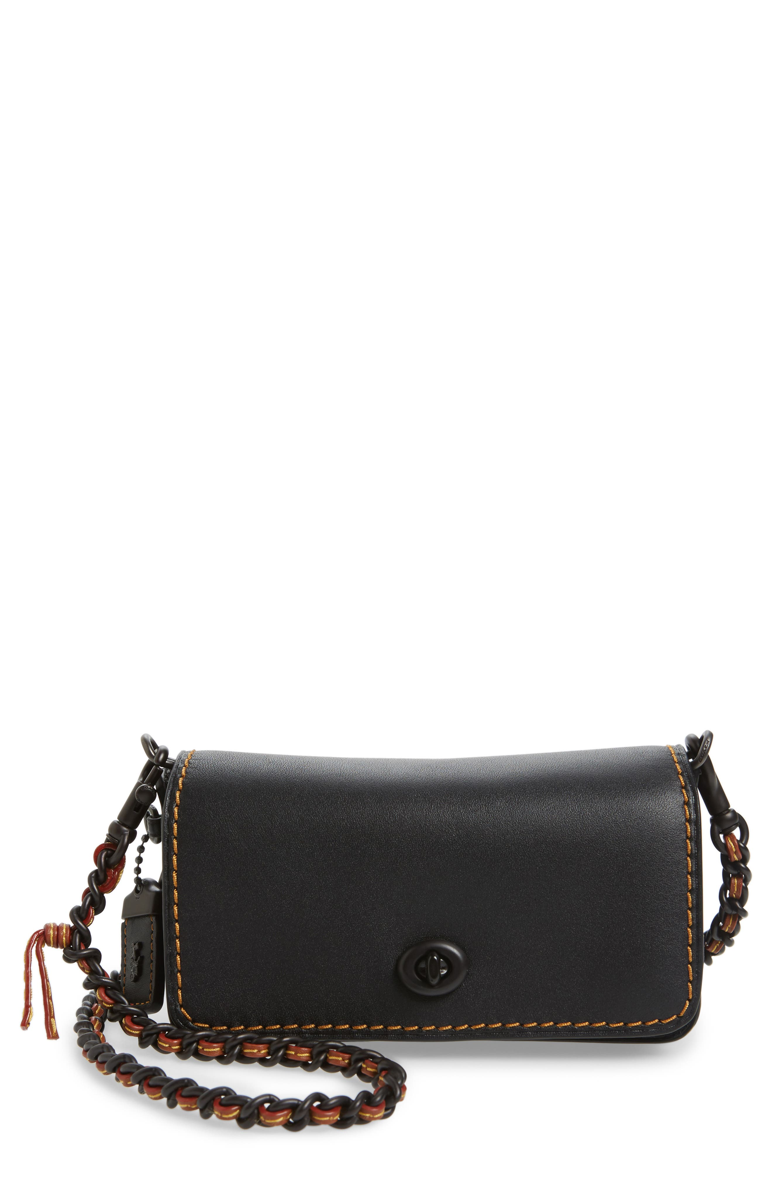 Dinky 15 Leather Crossbody Bag,                             Main thumbnail 1, color,                             001