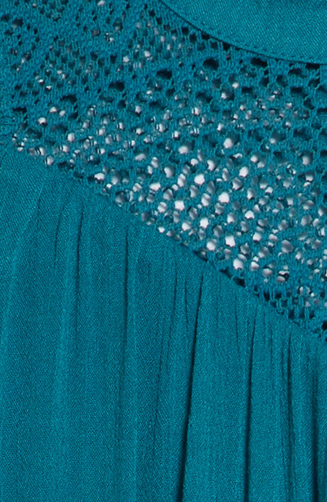 Lace Inset Ruffle Shift Dress,                             Alternate thumbnail 3, color,                             440