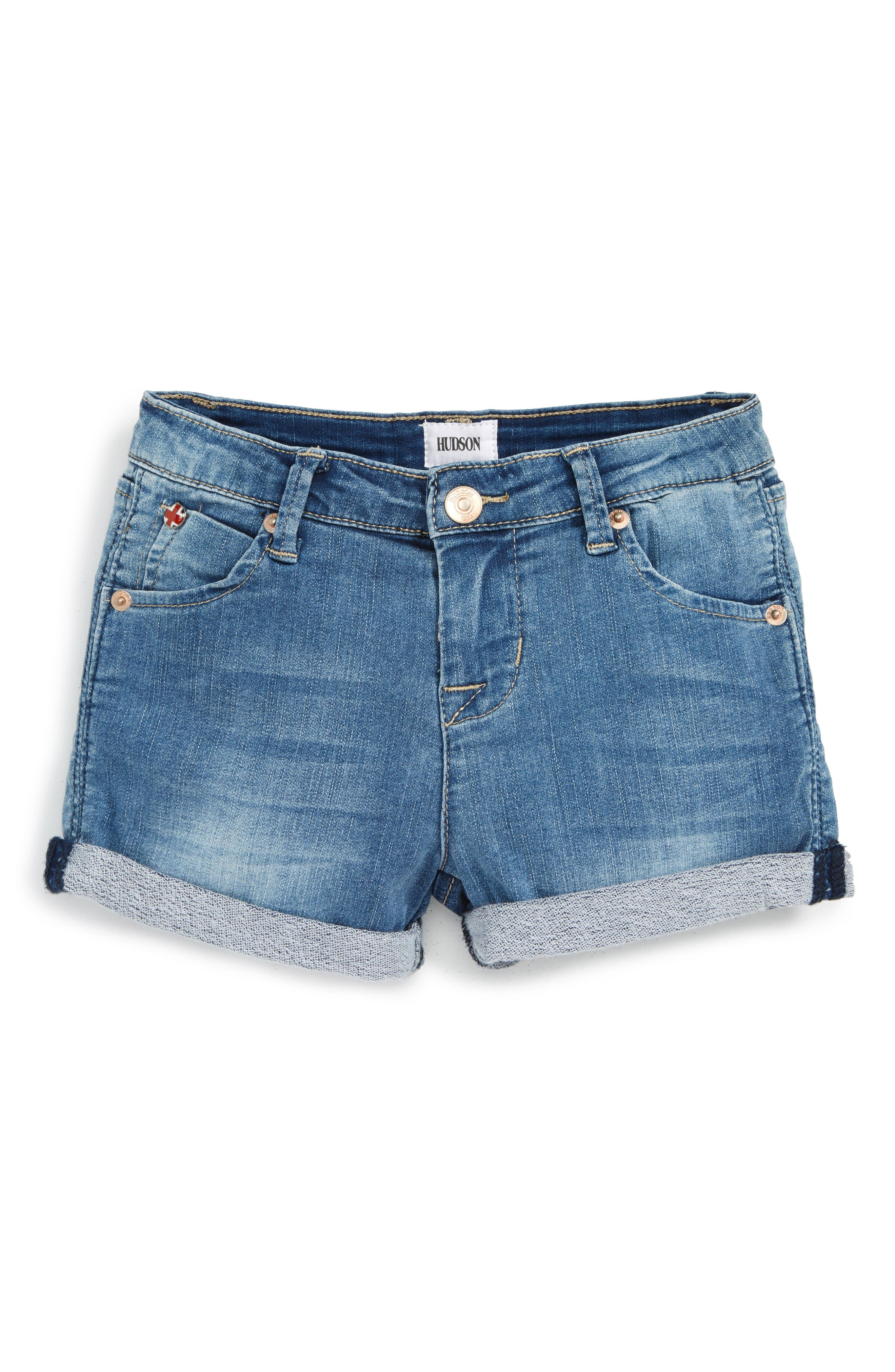 Collin Roll Cuff Denim Shorts,                             Alternate thumbnail 2, color,                             MEMORY