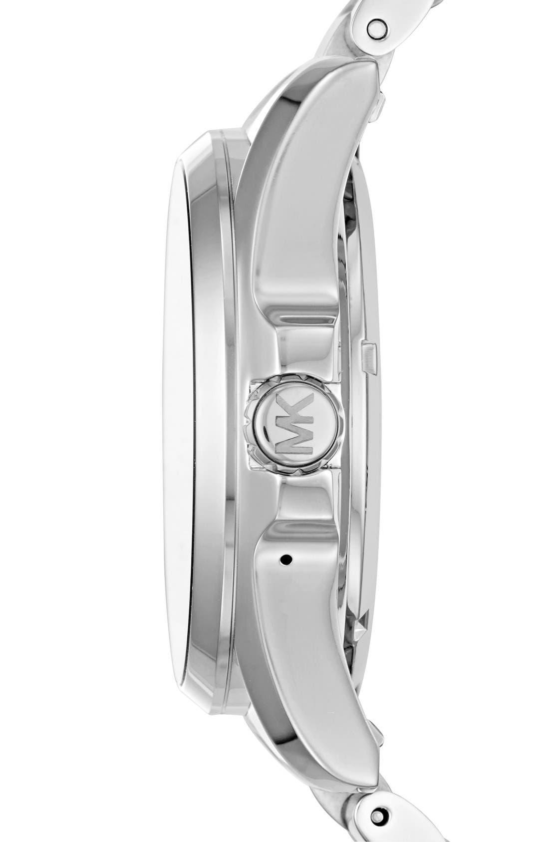 MICHAEL Michael Kors Bradshaw Access Bracelet Smart Watch, 45mm,                             Alternate thumbnail 5, color,                             SILVER/ SILVER