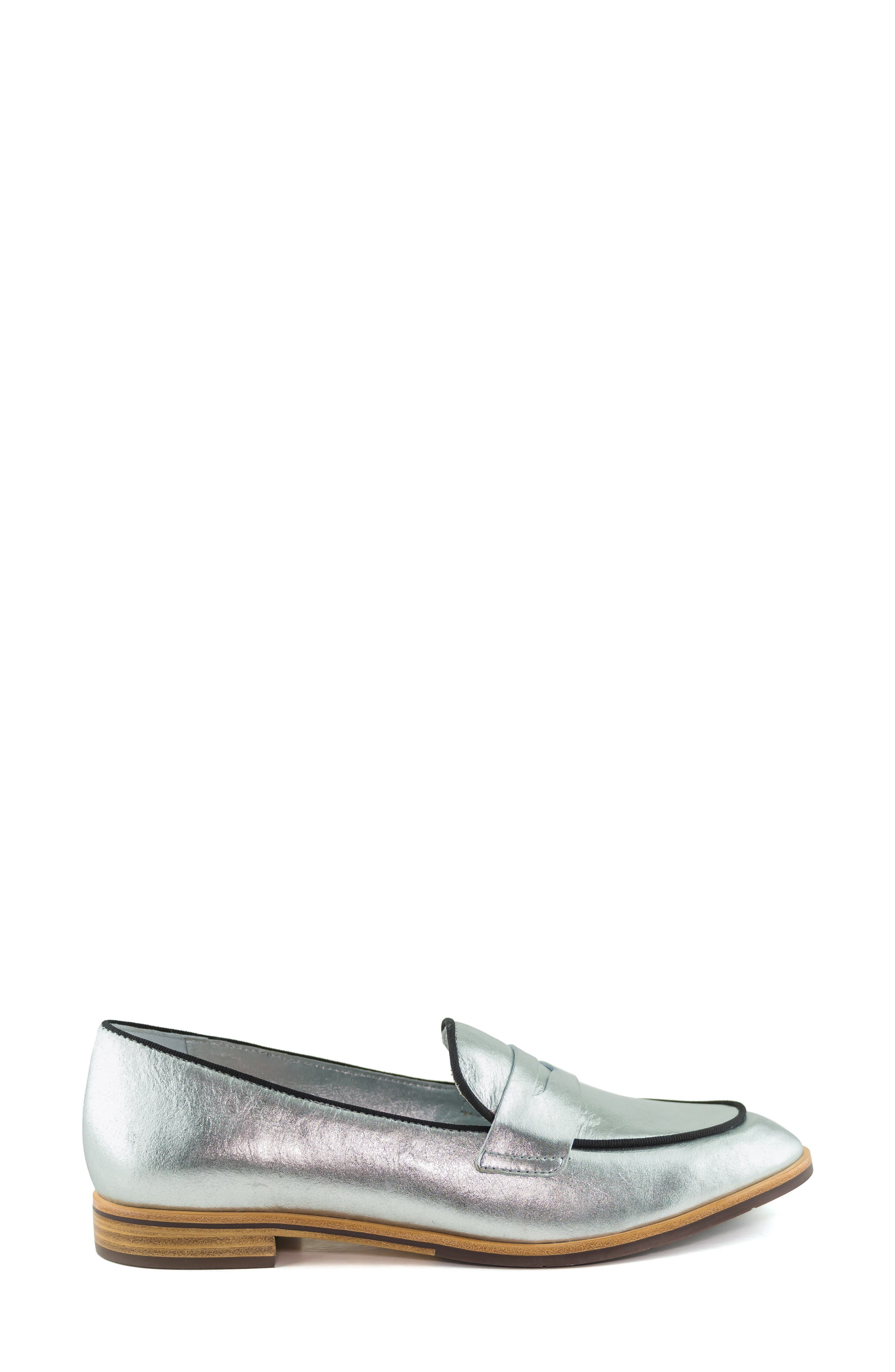 Bryant Park Loafer,                             Alternate thumbnail 3, color,                             GIPSY SILVER LEATHER
