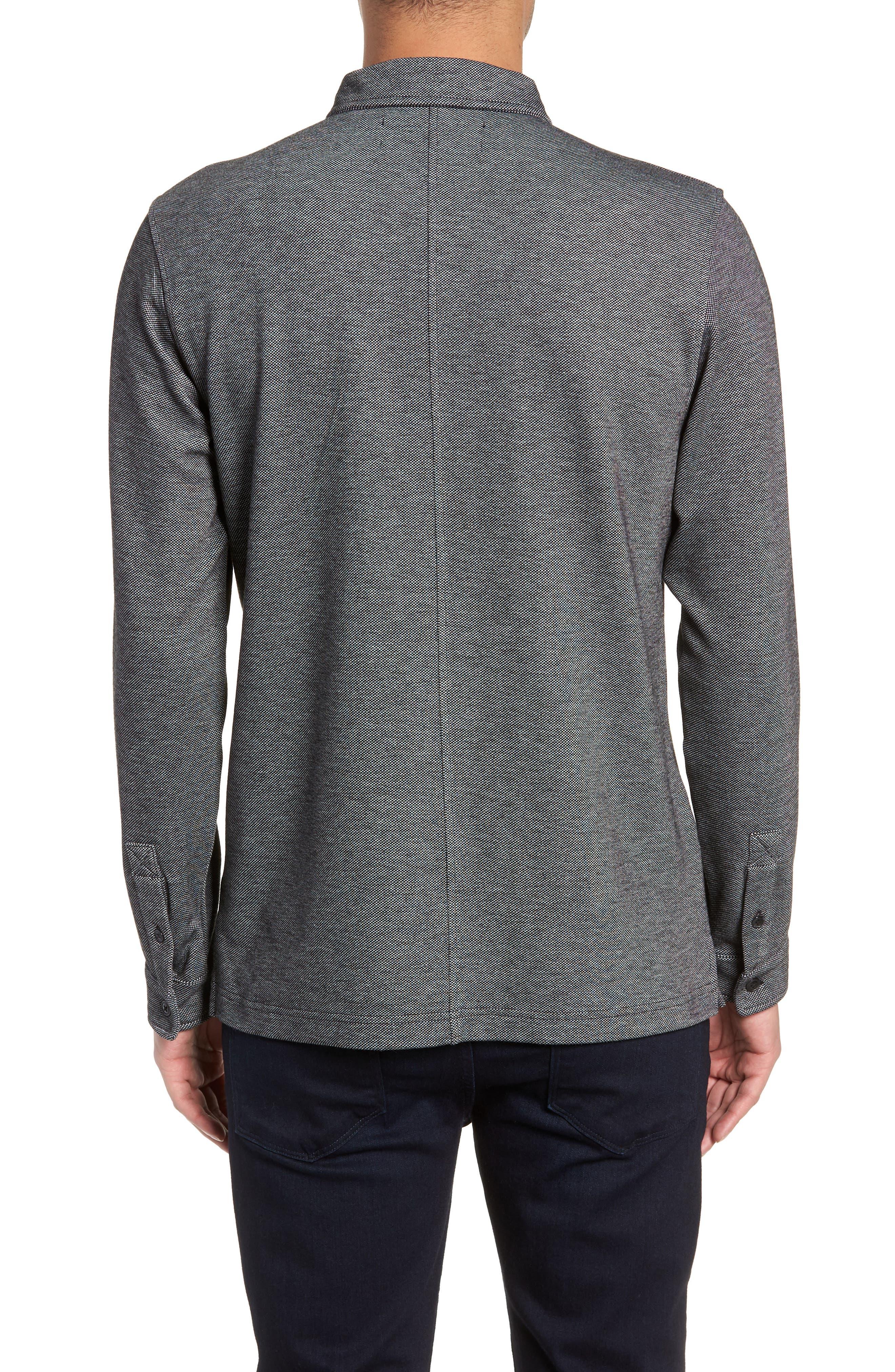 Trim Micro Jacquard Polo Shirt,                             Alternate thumbnail 2, color,                             001