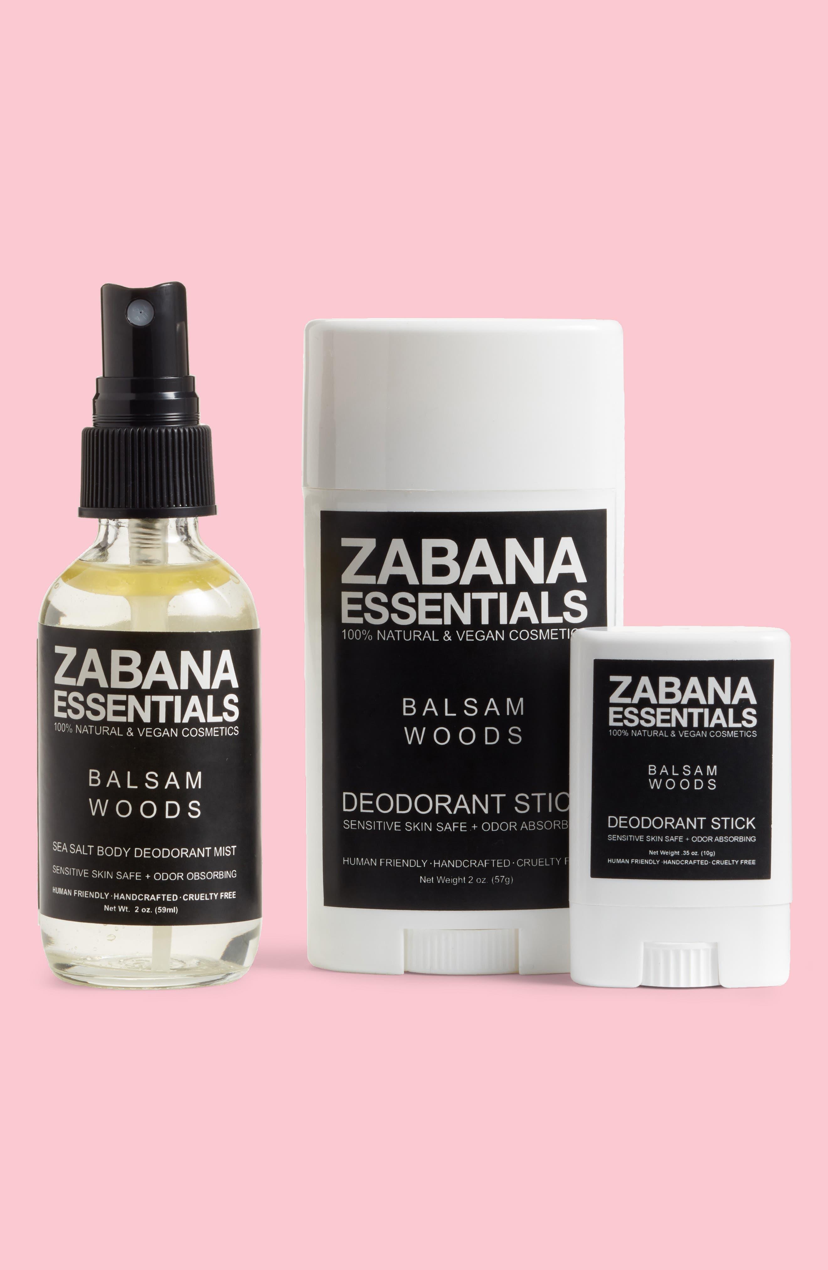ZABANA ESSENTIALS Balsam Woods Deodorant Set, Main, color, 200
