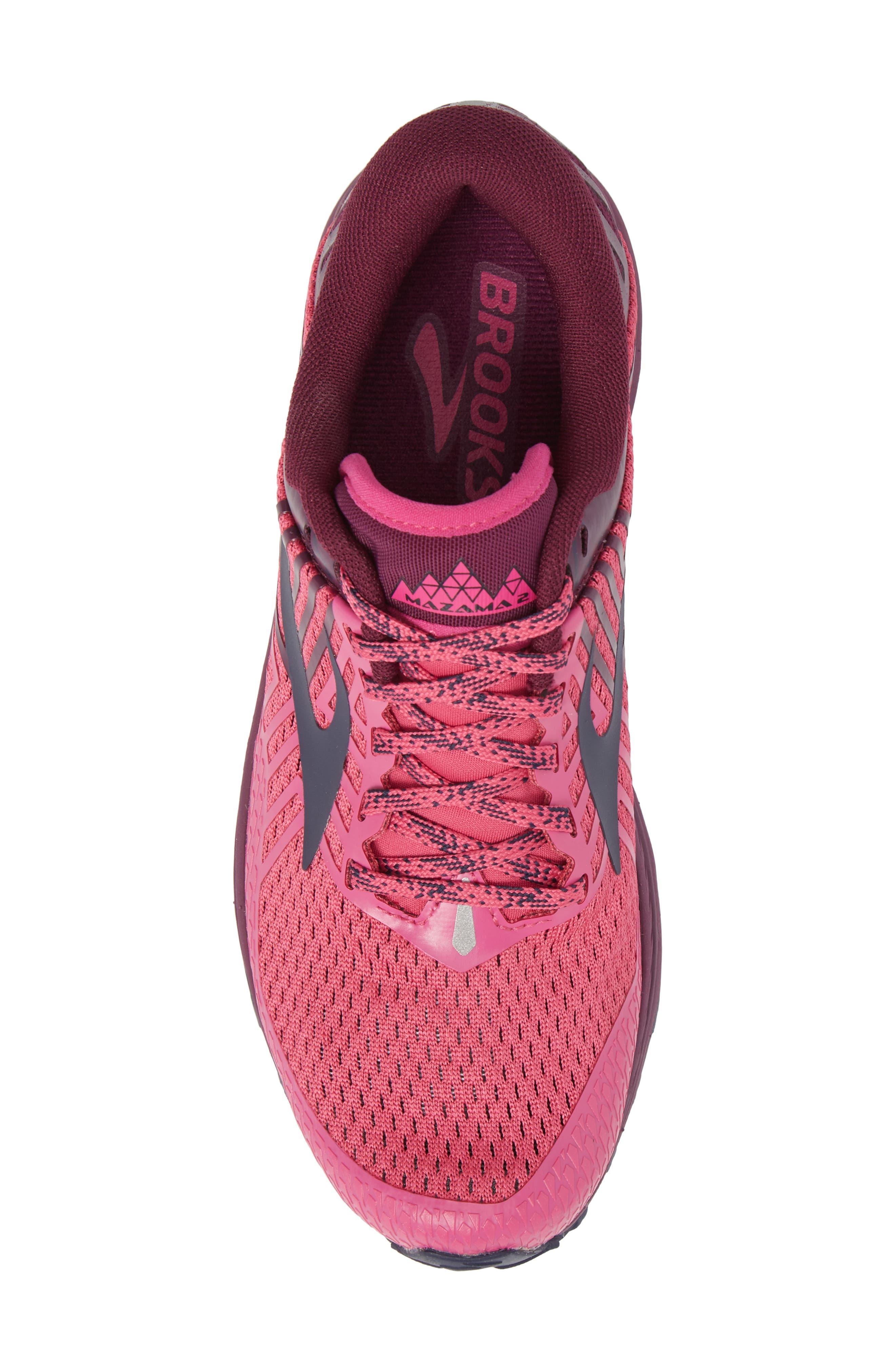 Mazama 2 Trail Running Shoe,                             Alternate thumbnail 5, color,                             PINK/ PLUM/ NAVY