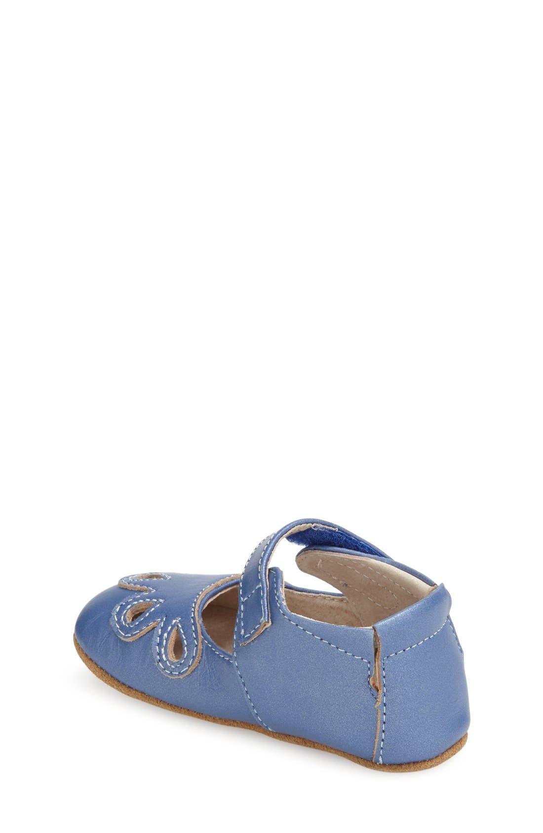 'Petal' Mary Jane Crib Shoe,                             Alternate thumbnail 7, color,