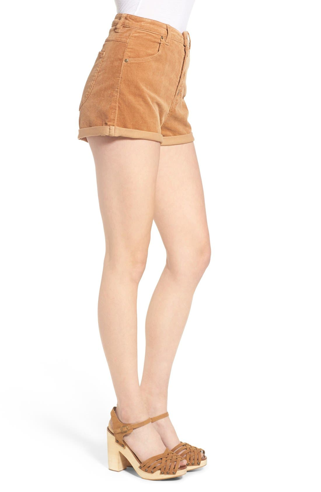 Corduroy Roll Cuff Shorts,                             Alternate thumbnail 2, color,                             200