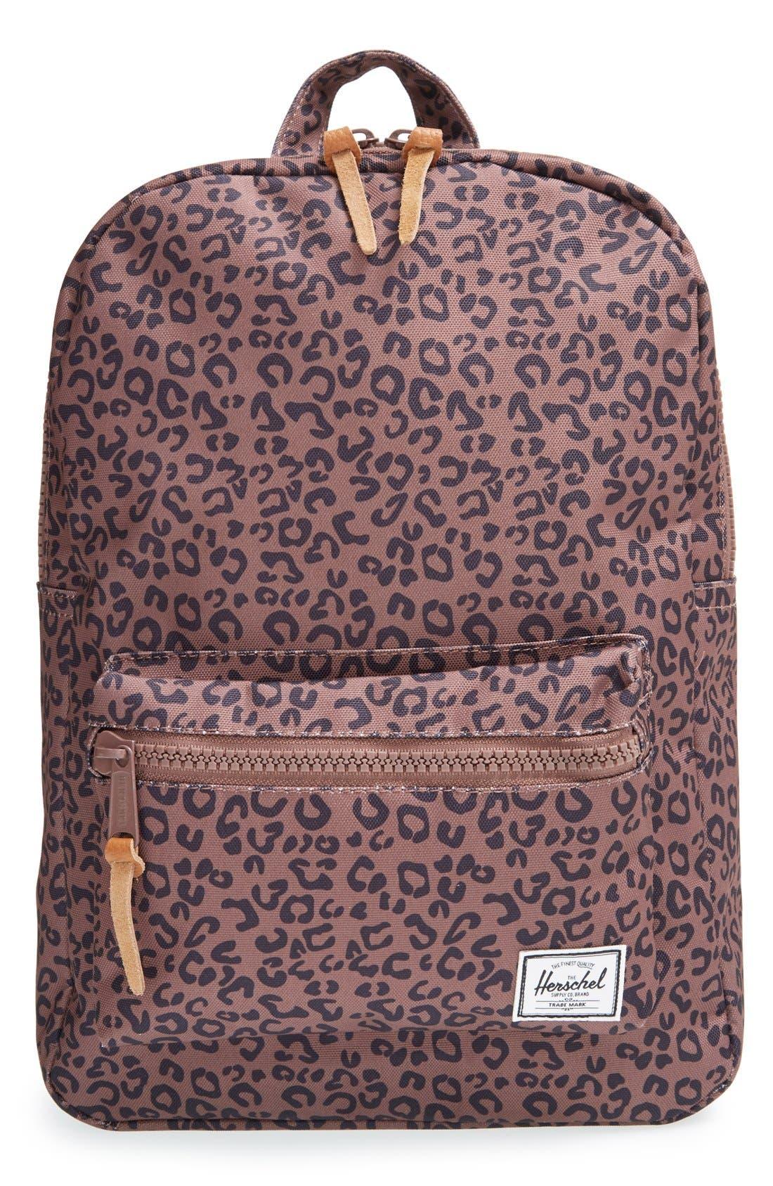 'Settlement - Leopard Print' Backpack, Main, color, 001