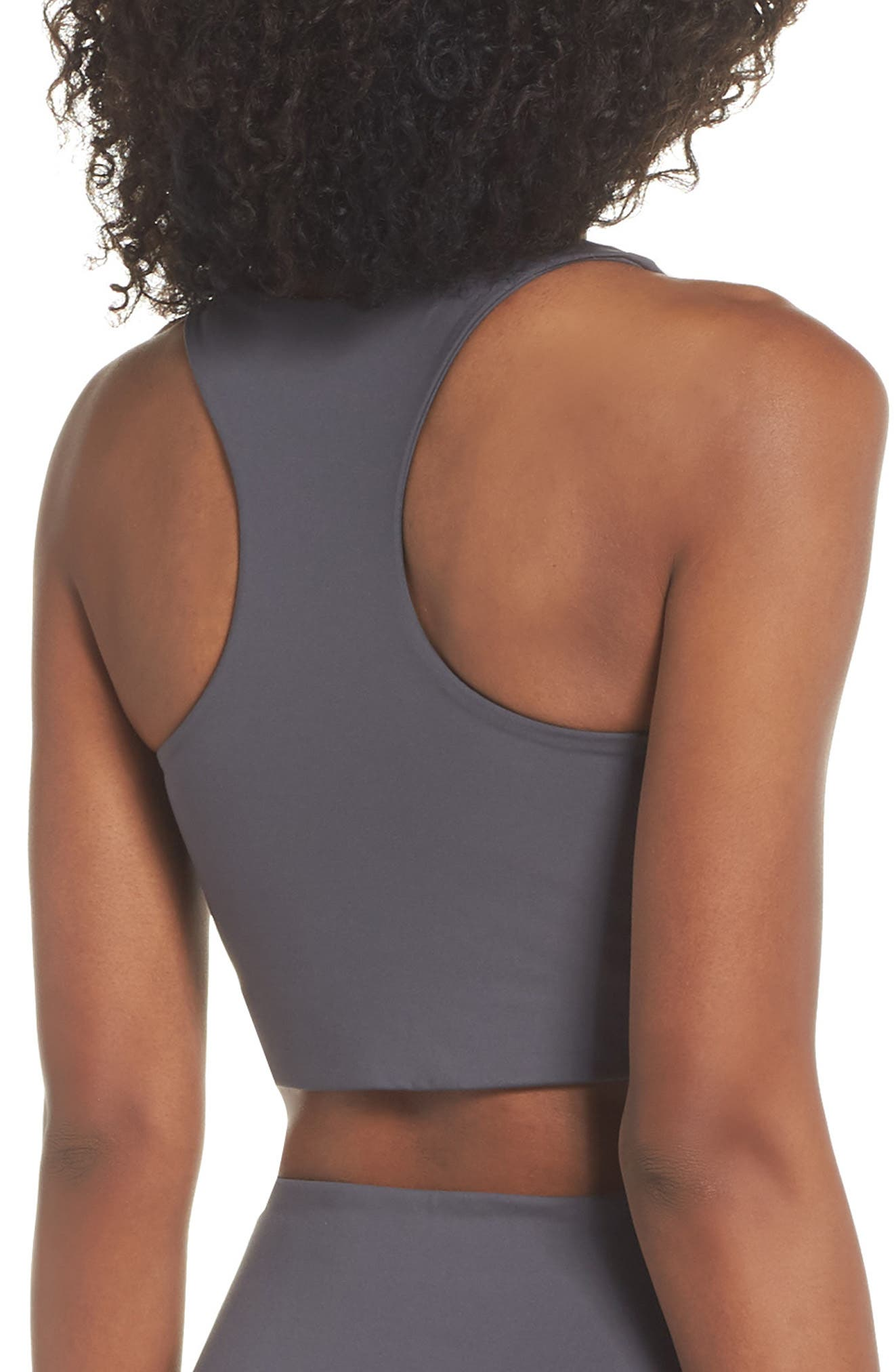 Paloma Sports Bra,                             Alternate thumbnail 3, color,                             SMOKE