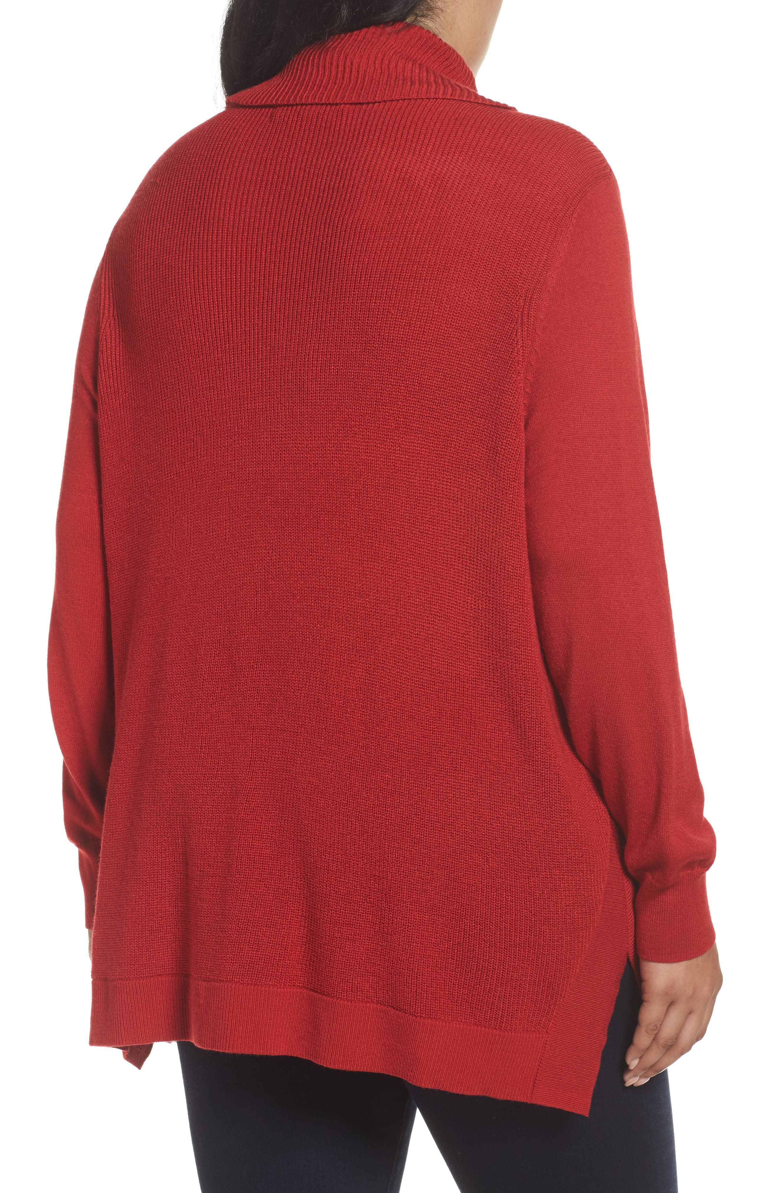 Cowl Neck Ribbed Trim Pullover,                             Alternate thumbnail 12, color,