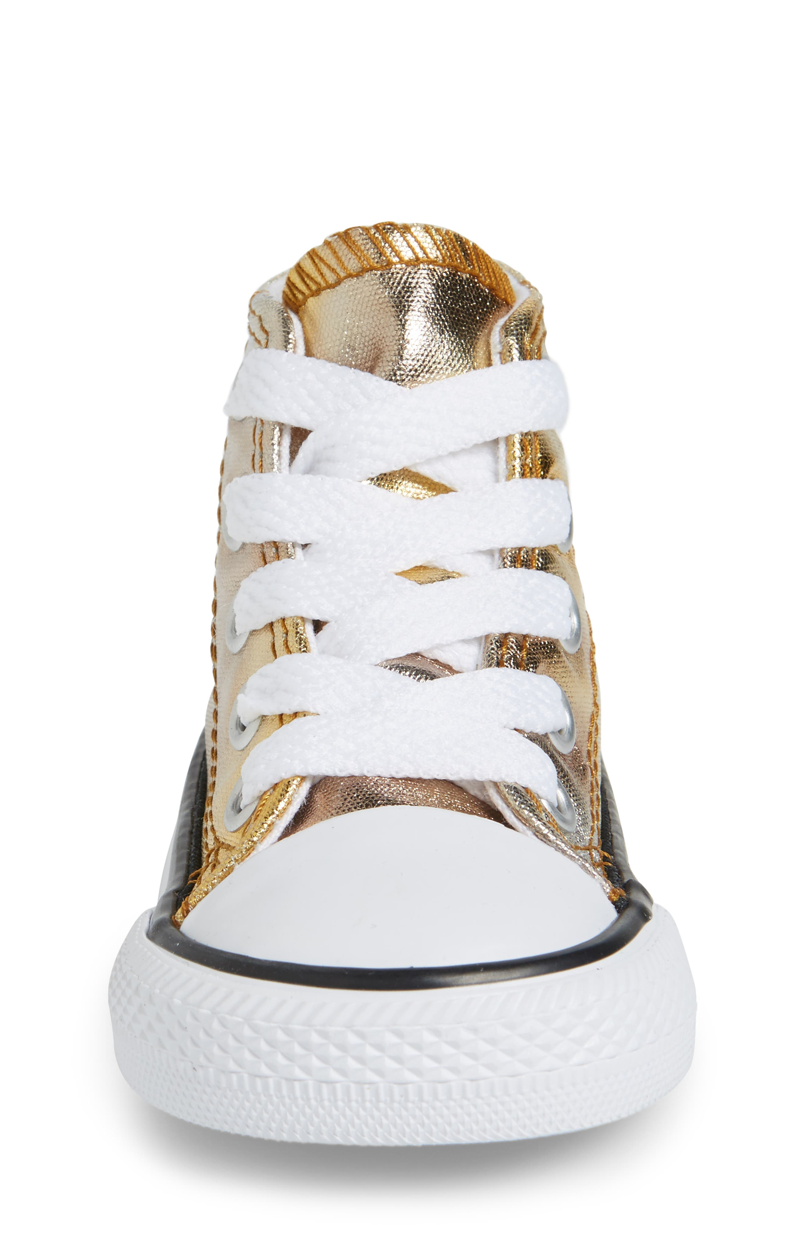 Chuck Taylor<sup>®</sup> All Star<sup>®</sup> Metallic High Top Sneaker,                             Alternate thumbnail 8, color,