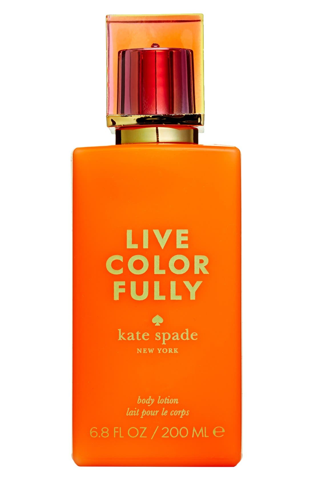 KATE SPADE NEW YORK 'live colorfully' body lotion, Main, color, 000