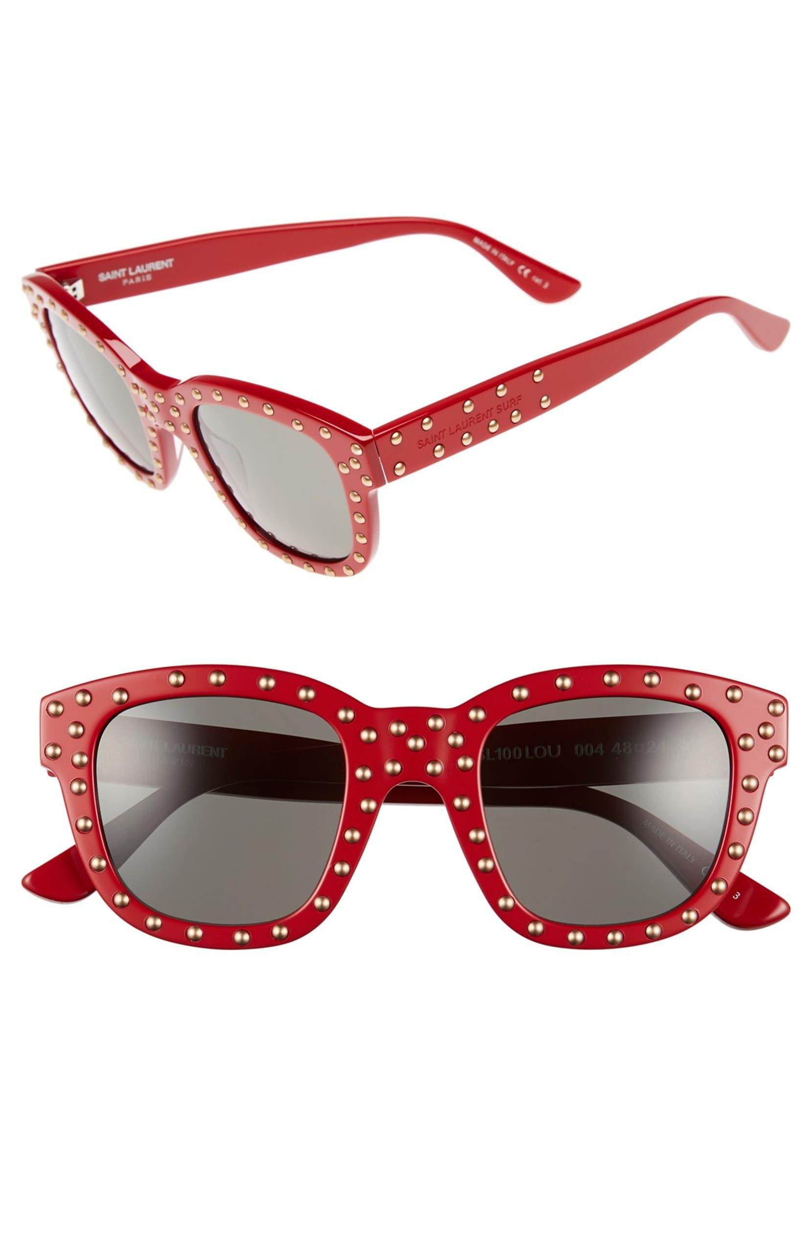 99181c5173 Saint Laurent  100 Lou  48mm Retro Sunglasses