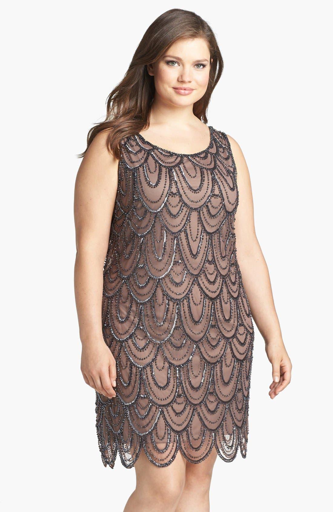 Beaded Sheath Dress,                             Main thumbnail 7, color,