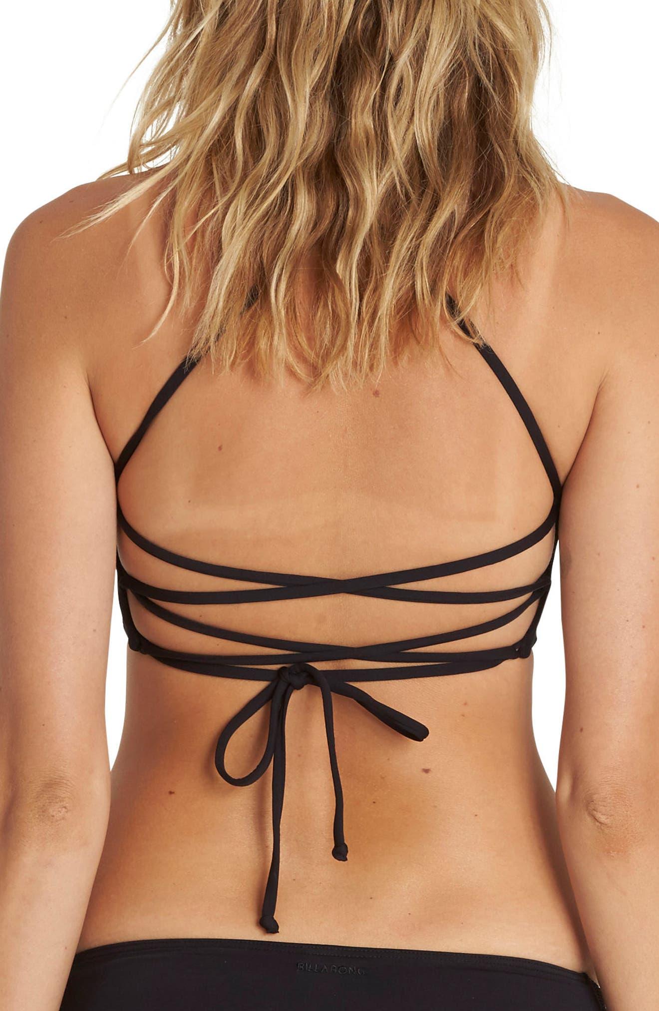 Sol Searcher High Neck Halter Bikini Top,                             Alternate thumbnail 2, color,                             001