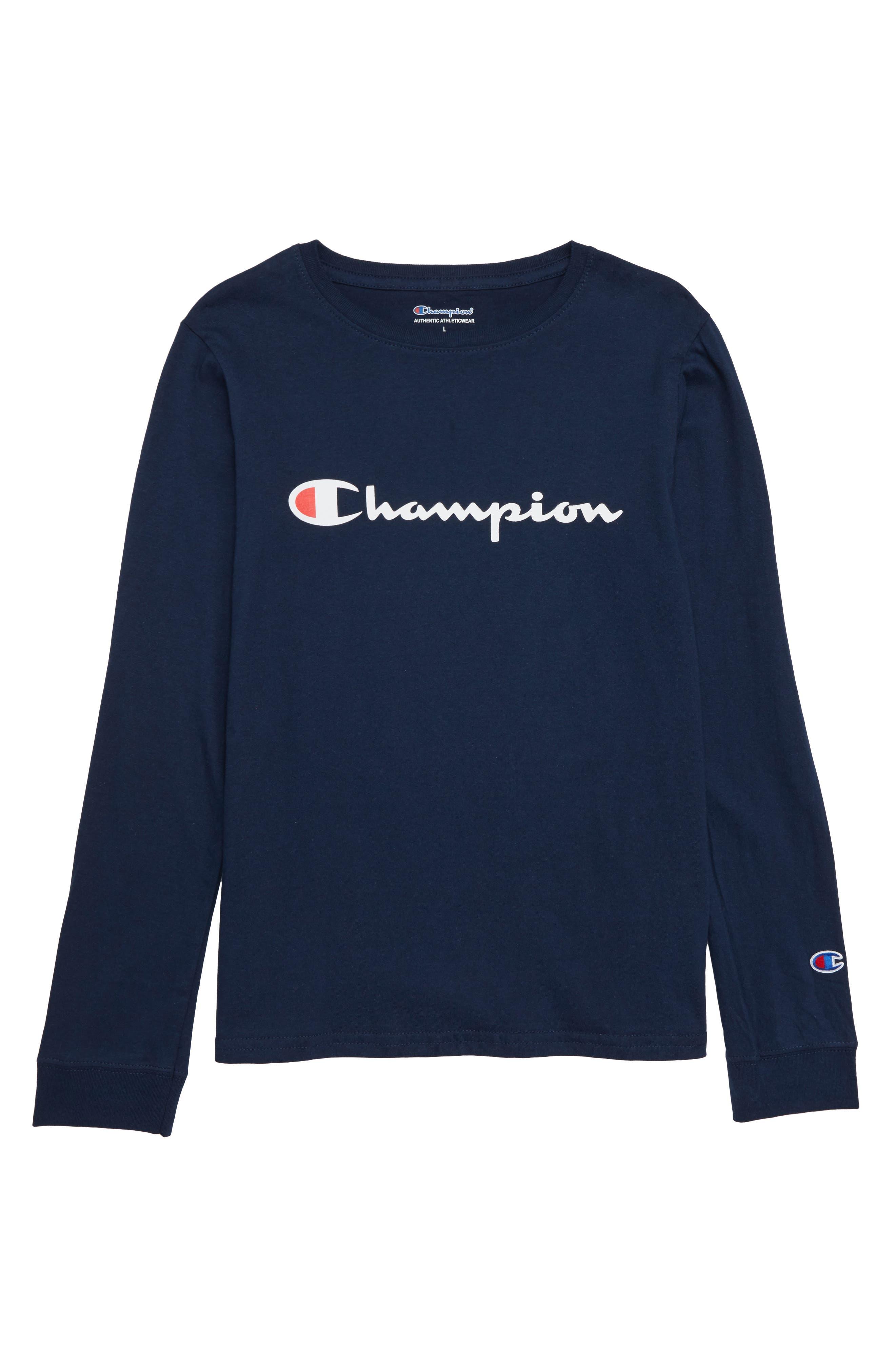 Boys Champion Heritage Long Sleeve Logo TShirt