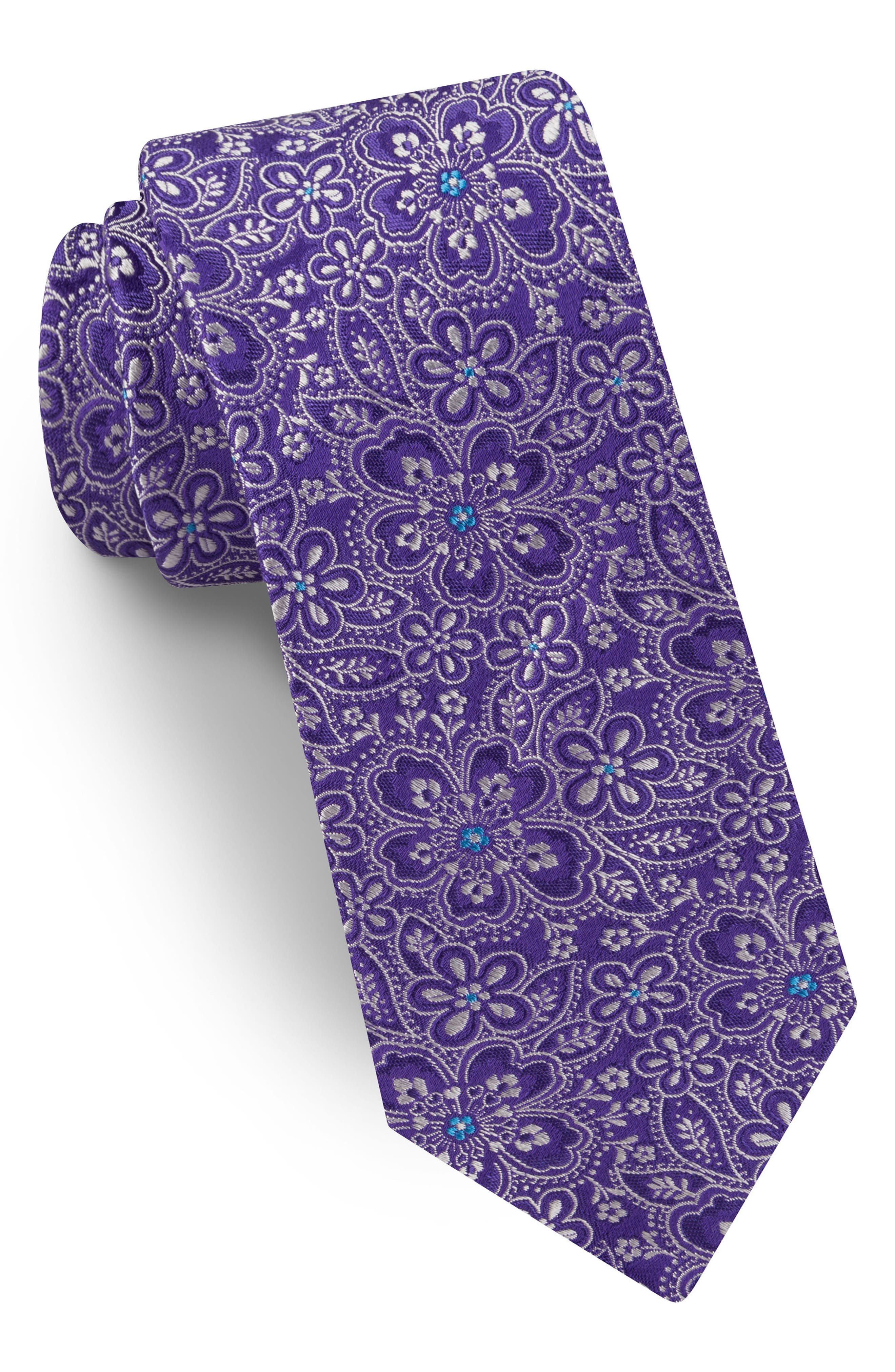 Floral Silk Tie,                         Main,                         color,