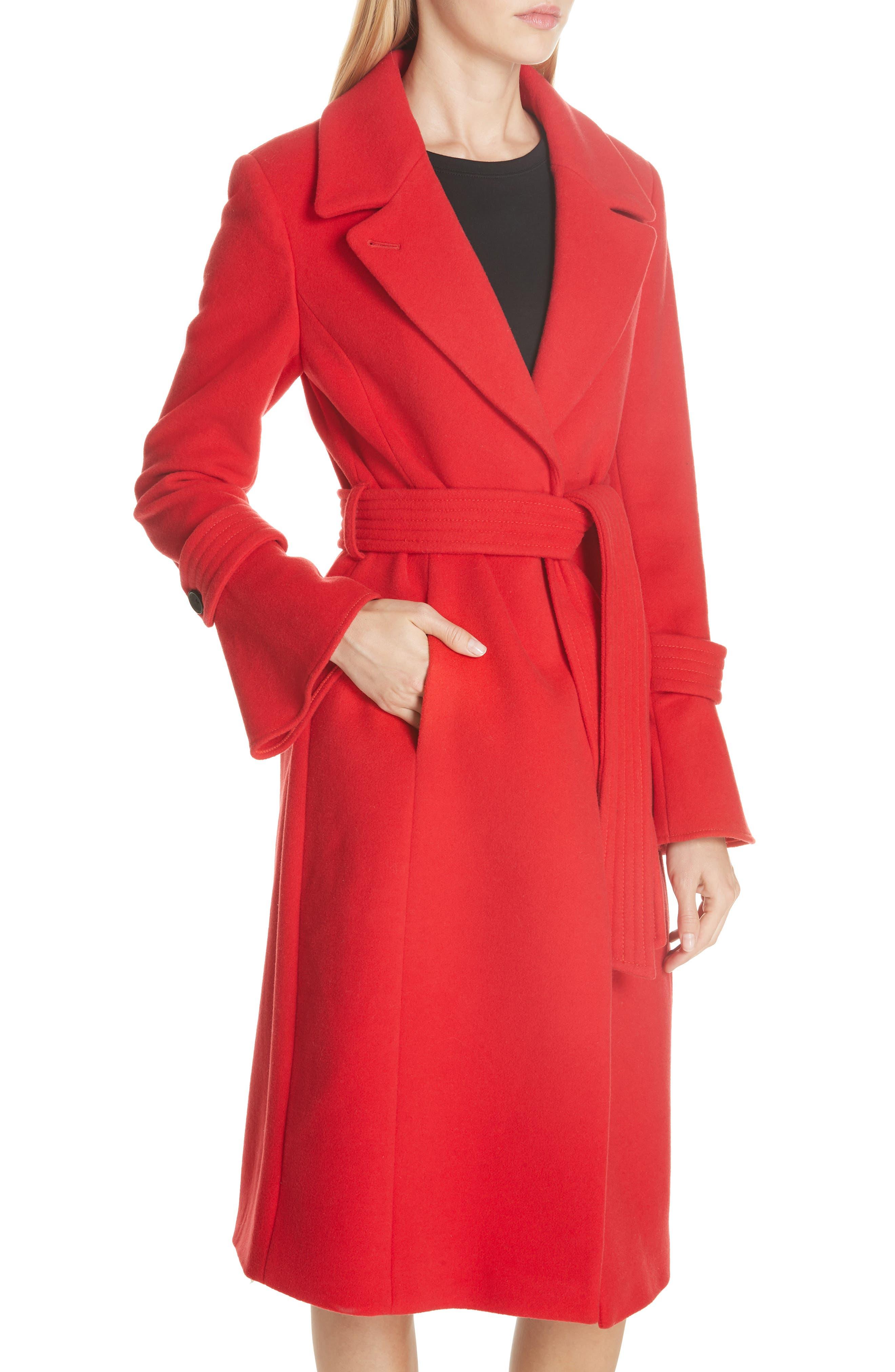 Hersilia Wool Blend Coat,                             Alternate thumbnail 4, color,                             600