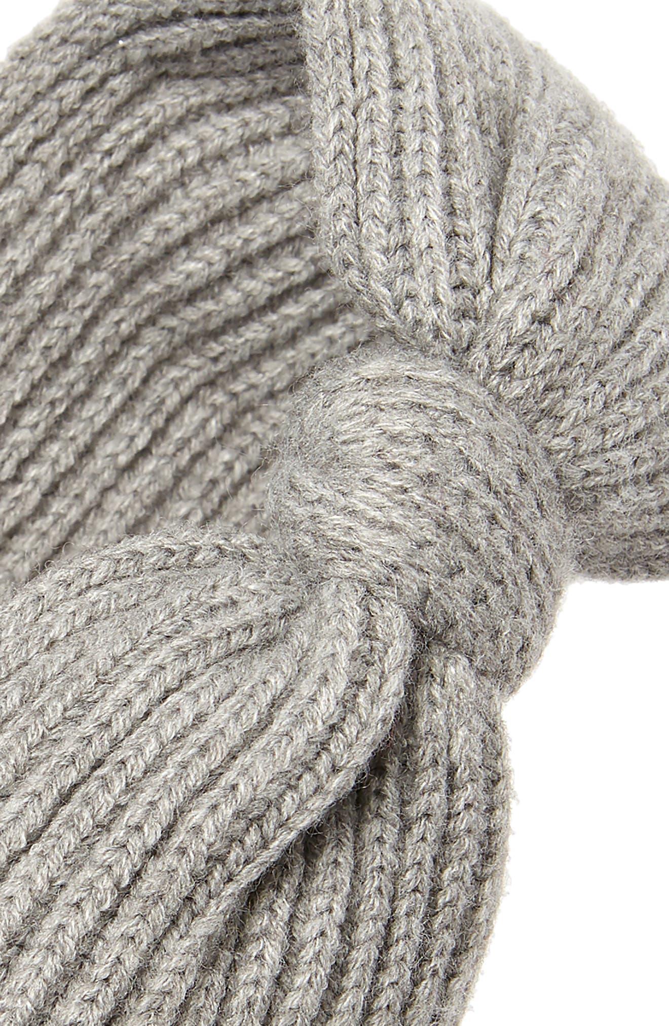 bow knit headband,                             Alternate thumbnail 2, color,                             HEATHER GREY