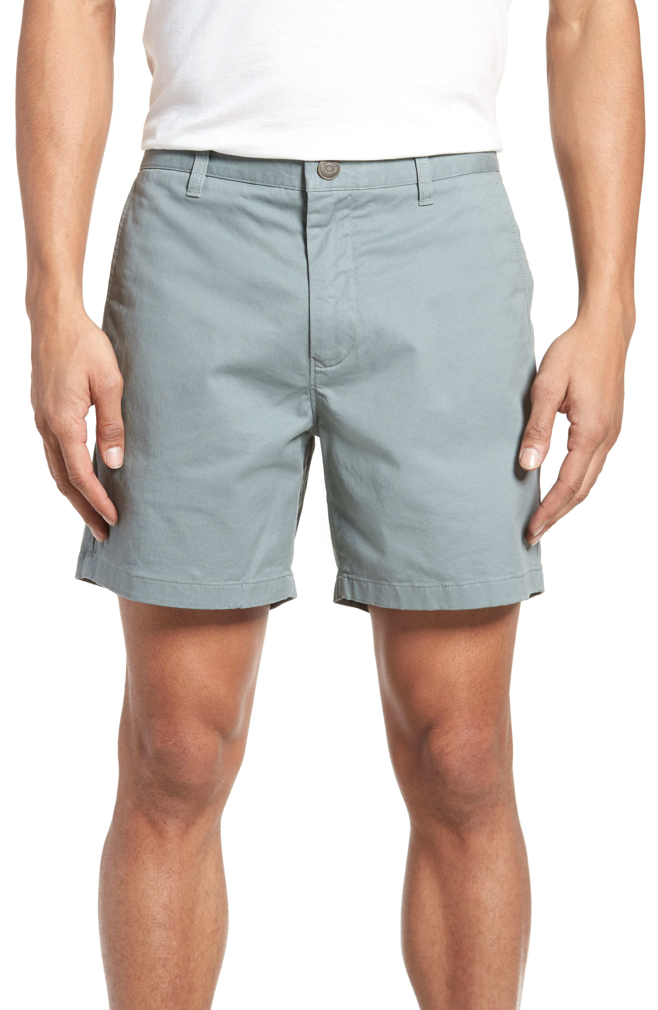 Stretch Washed Chino 5-Inch Shorts,                             Main thumbnail 4, color,