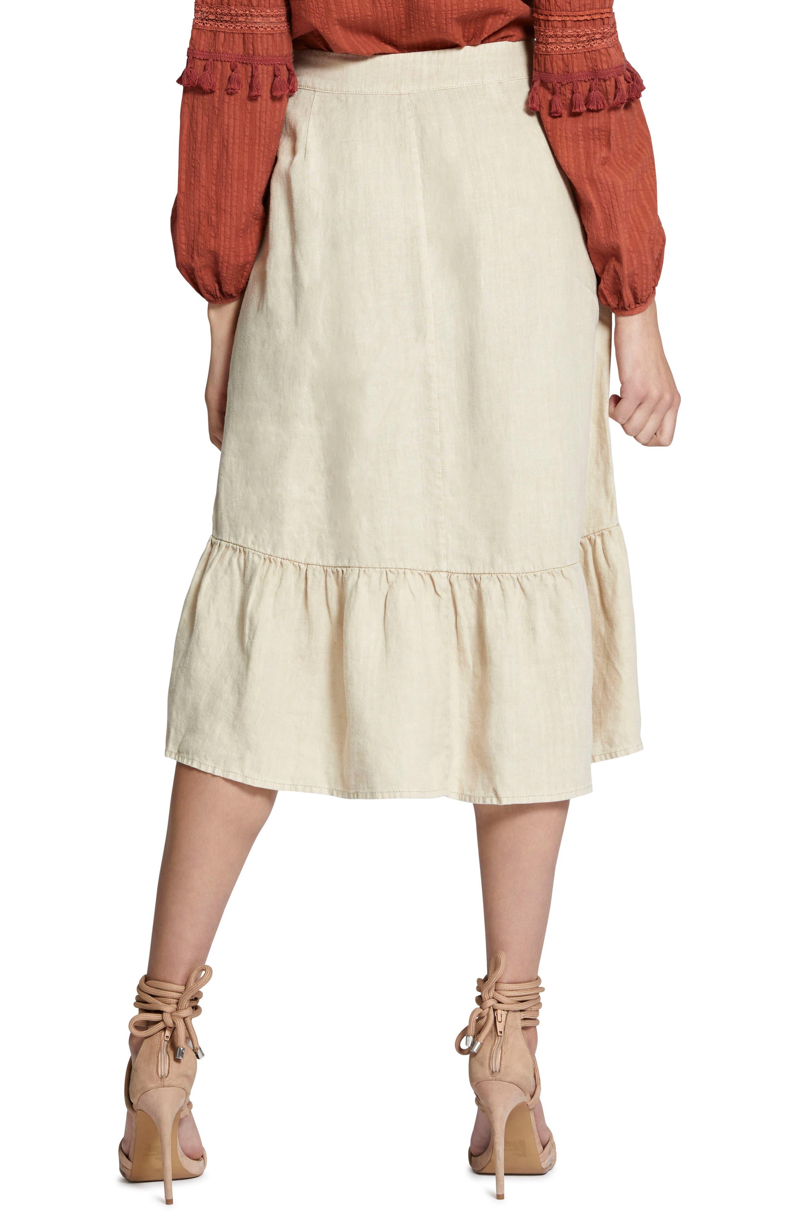 Lola Linen Skirt,                             Alternate thumbnail 2, color,