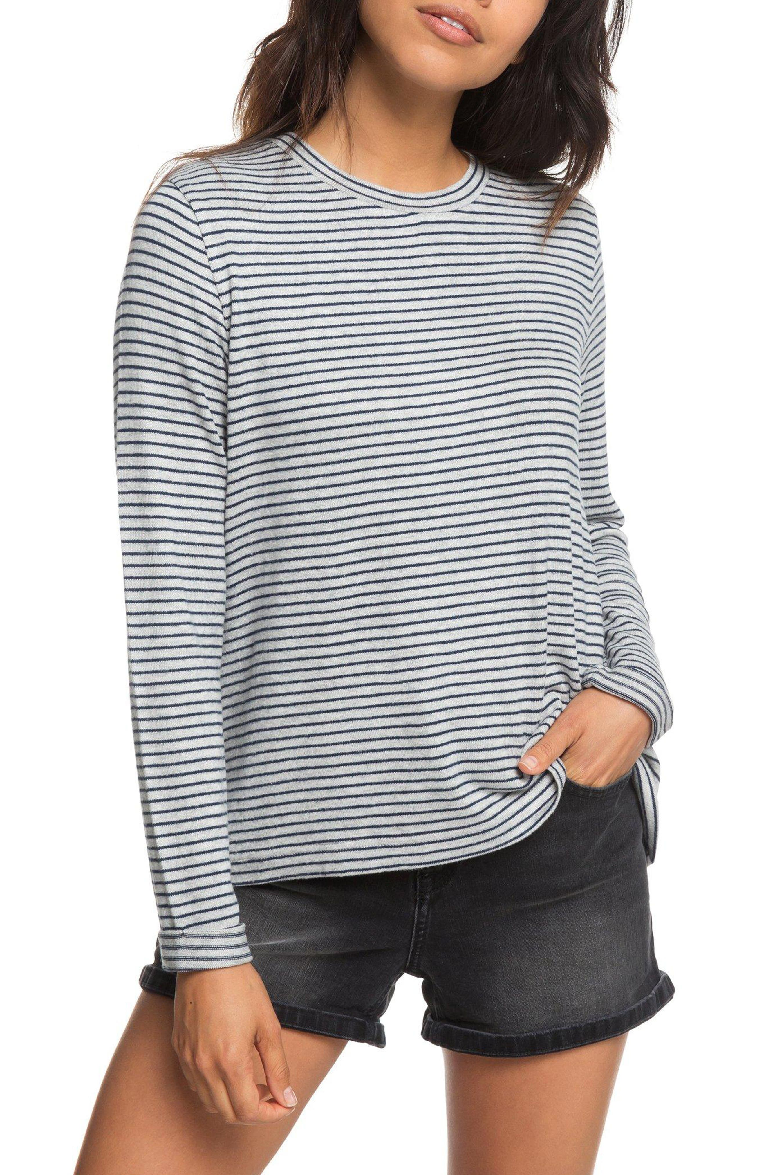 Chasing You Stripe Knit Top,                         Main,                         color, HERITAGE HEATHER THIN STRIPES