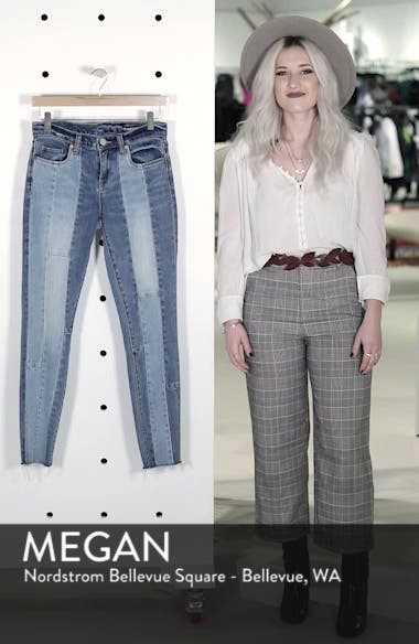 The Reade Patchwork Crop Skinny Jeans, sales video thumbnail