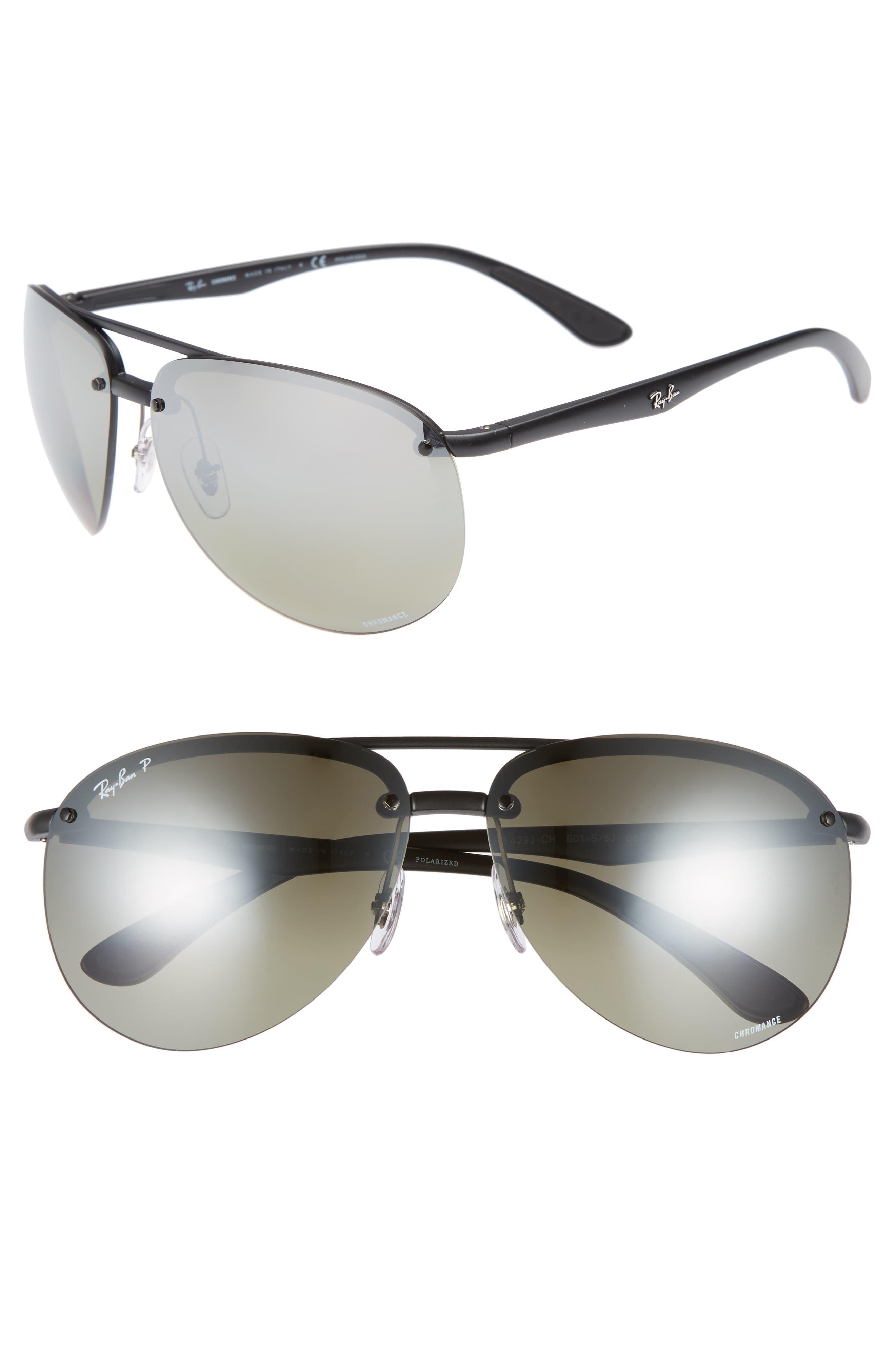 Ray-Ban 65Mm Chromance Polarized Aviator Sunglasses -