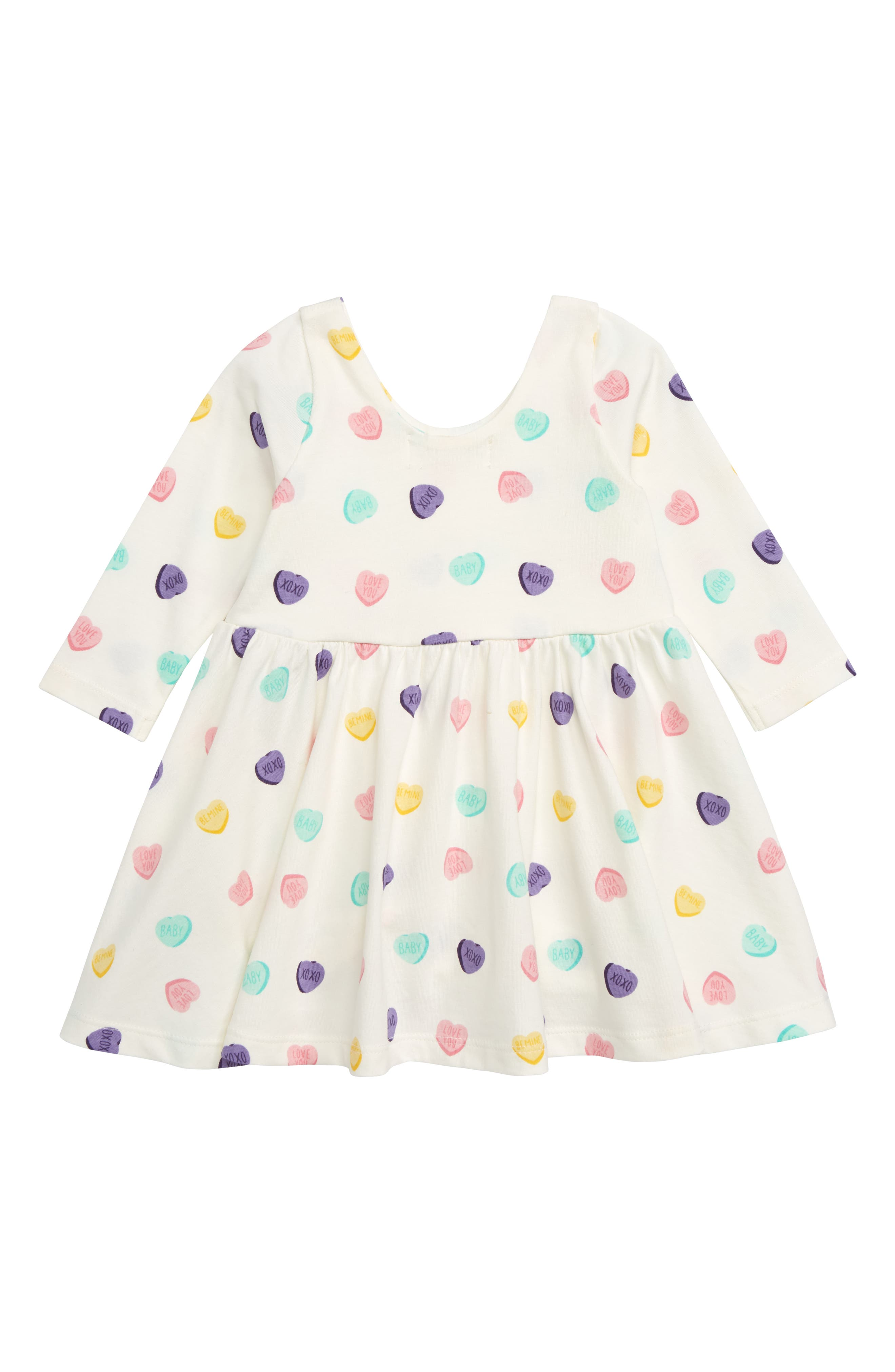 Let's Dance Sweetheart Organic Stretch Cotton Dress,                             Alternate thumbnail 2, color,                             SWEET HEARTS