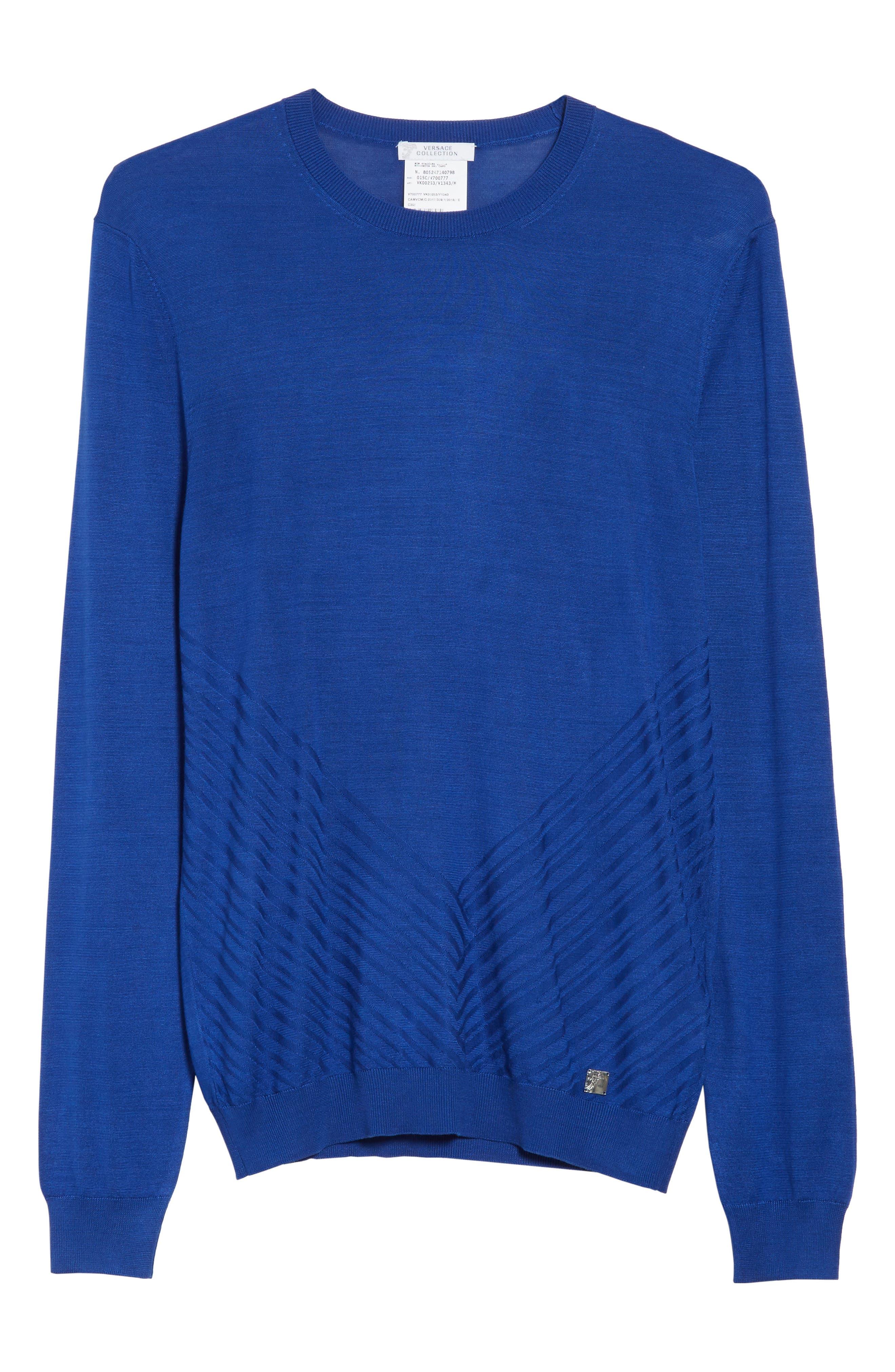 Silk Crewneck Sweater,                             Alternate thumbnail 6, color,                             430