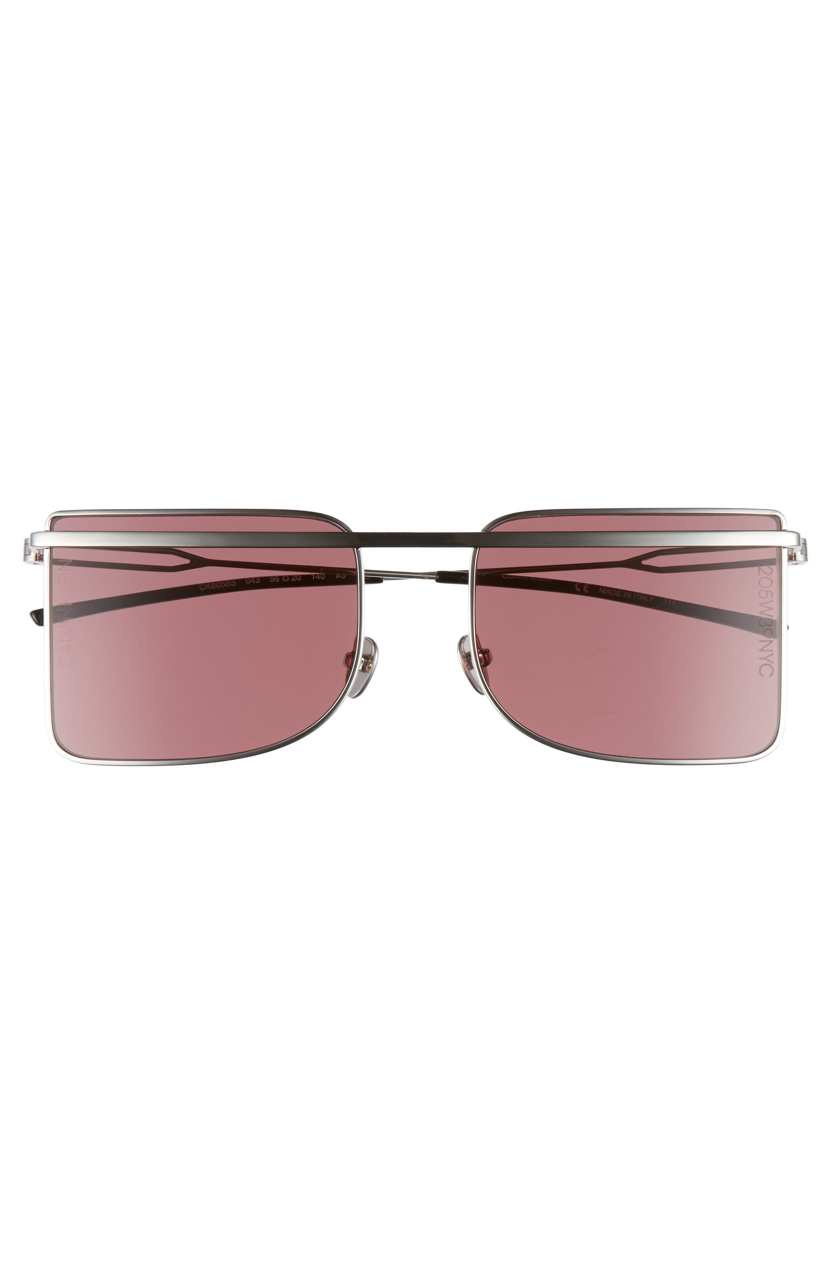 205W39NYC 56mm Butterfly Sunglasses,                             Alternate thumbnail 3, color,                             040