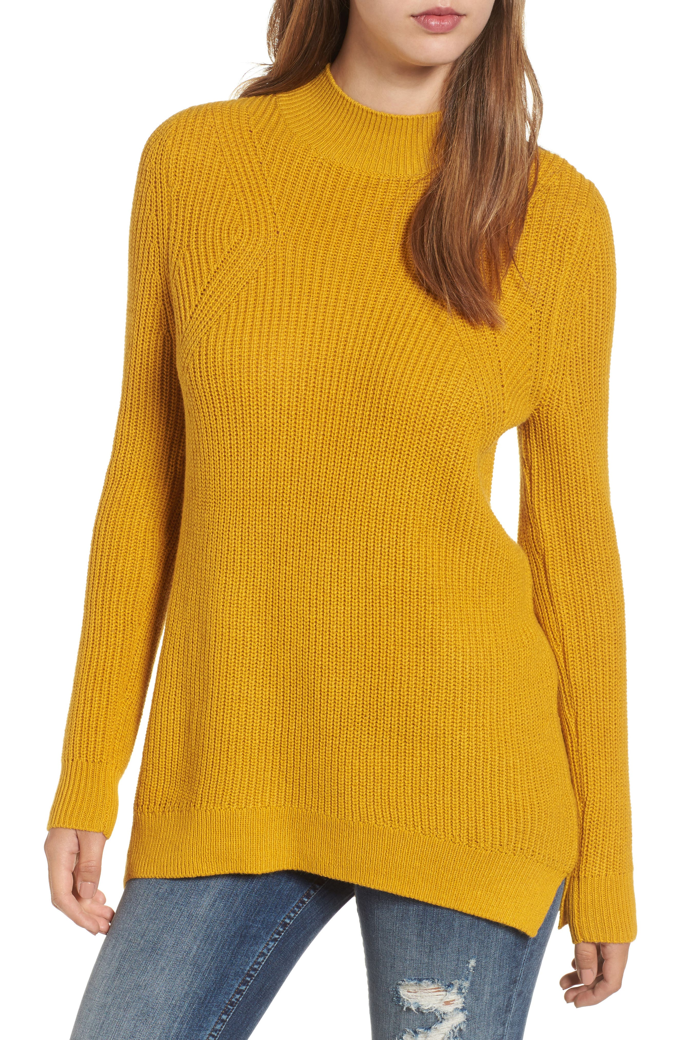 Mock Neck Tunic Sweater,                             Main thumbnail 5, color,