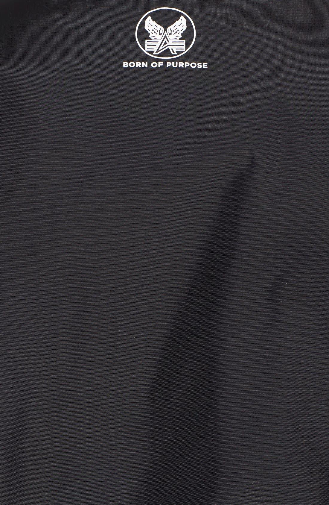 Reversible Slim Flex MA-1 Bomber Jacket,                             Alternate thumbnail 6, color,                             001