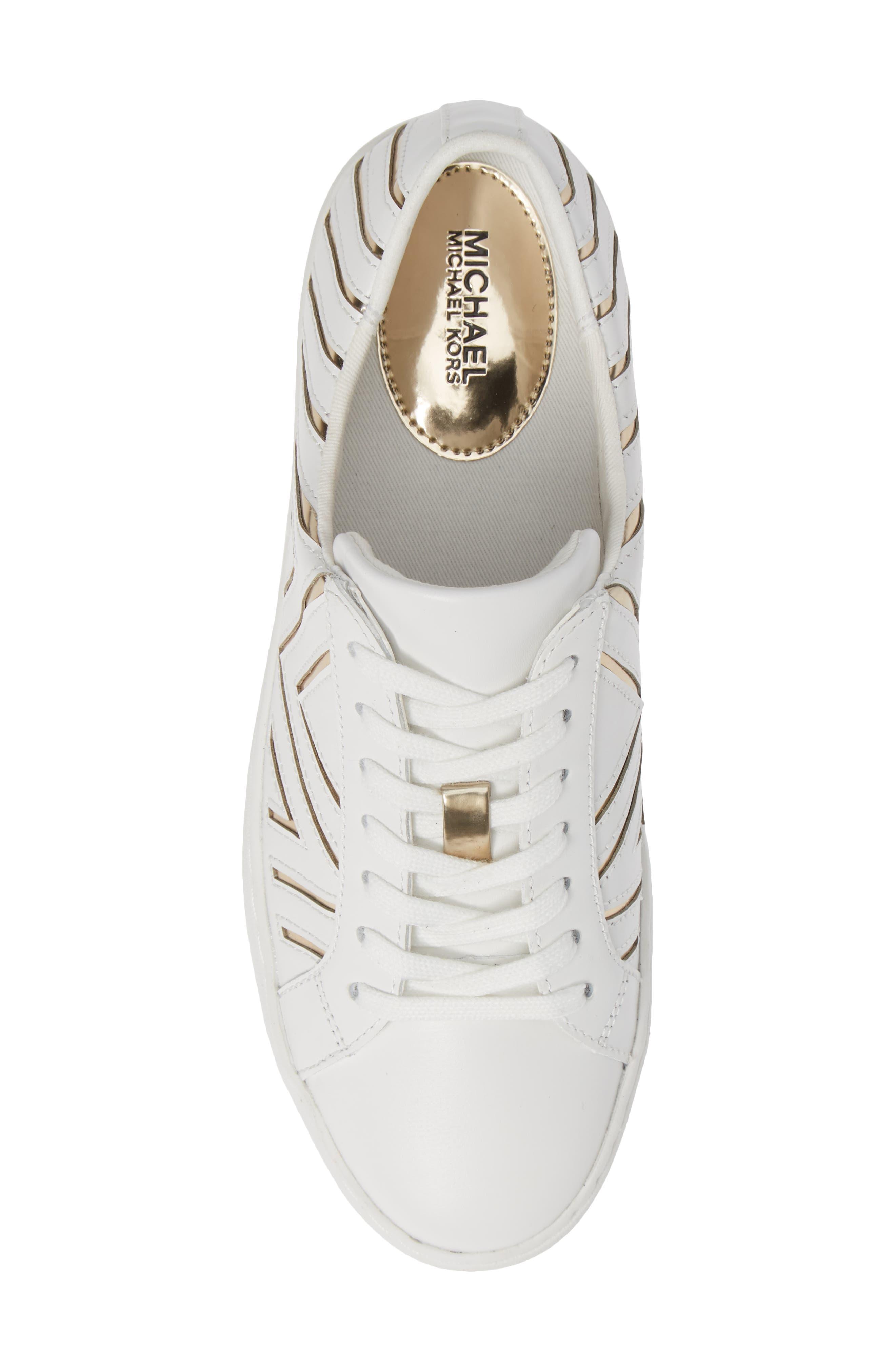 MICHAEL MICHAEL KORS,                             Whitney Sneaker,                             Alternate thumbnail 5, color,                             100