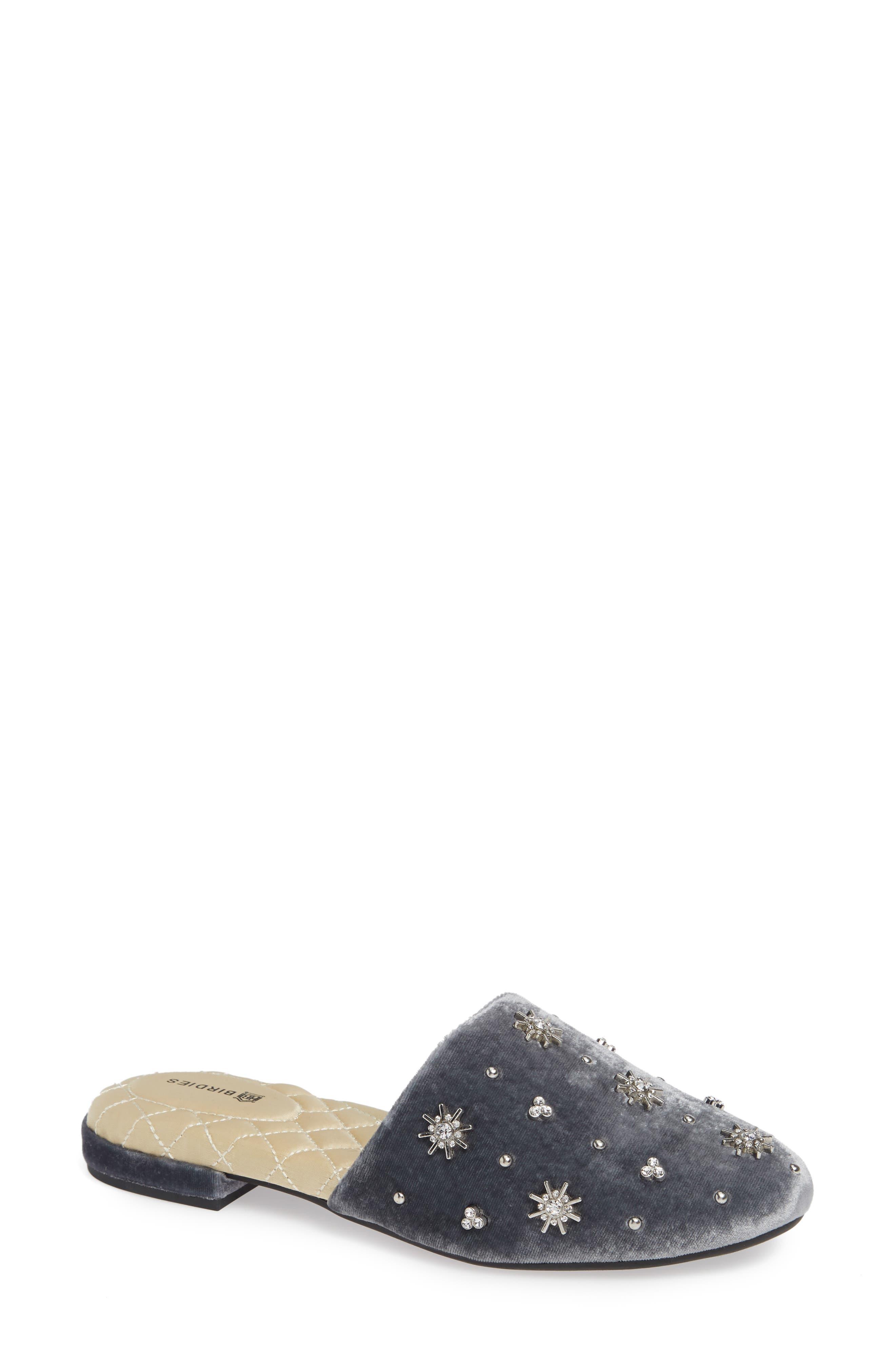 The Songbird Slipper, Main, color, ICE CRYSTAL VELVET