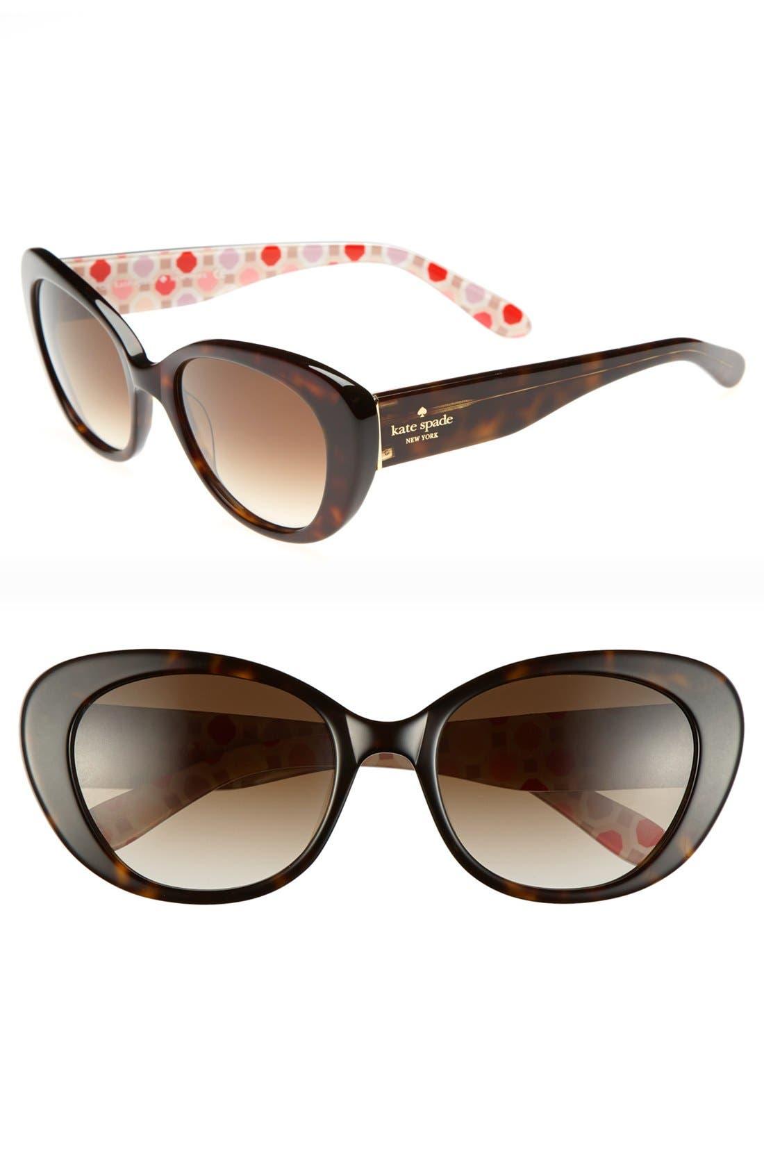 'franca 2' retro sunglasses,                             Main thumbnail 4, color,
