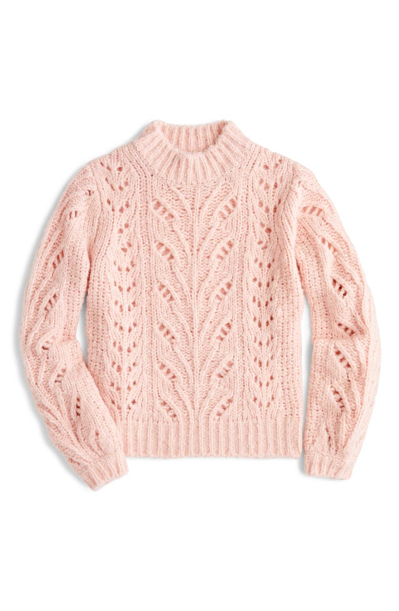 Point Sur Pointelle Sweater,                         Main,                         color, SUBTLE PINK