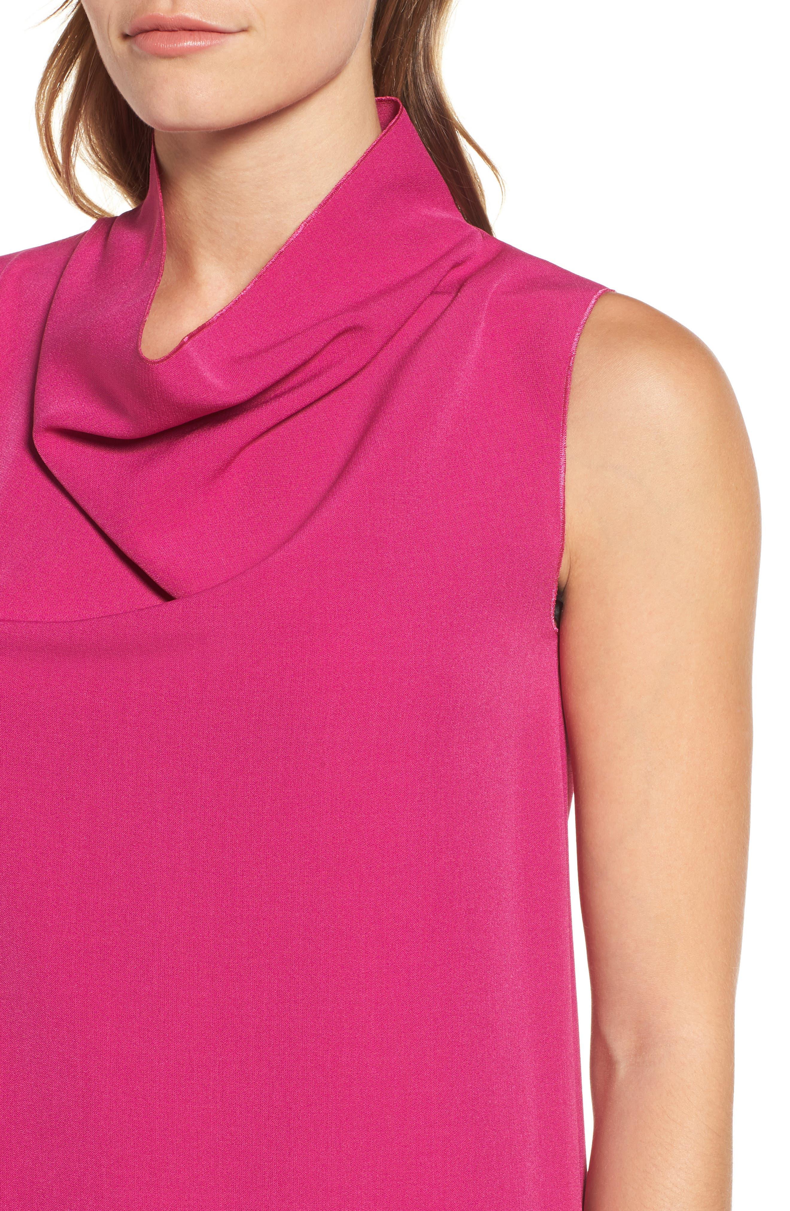 Cowl Neck Sheath Dress,                             Alternate thumbnail 8, color,