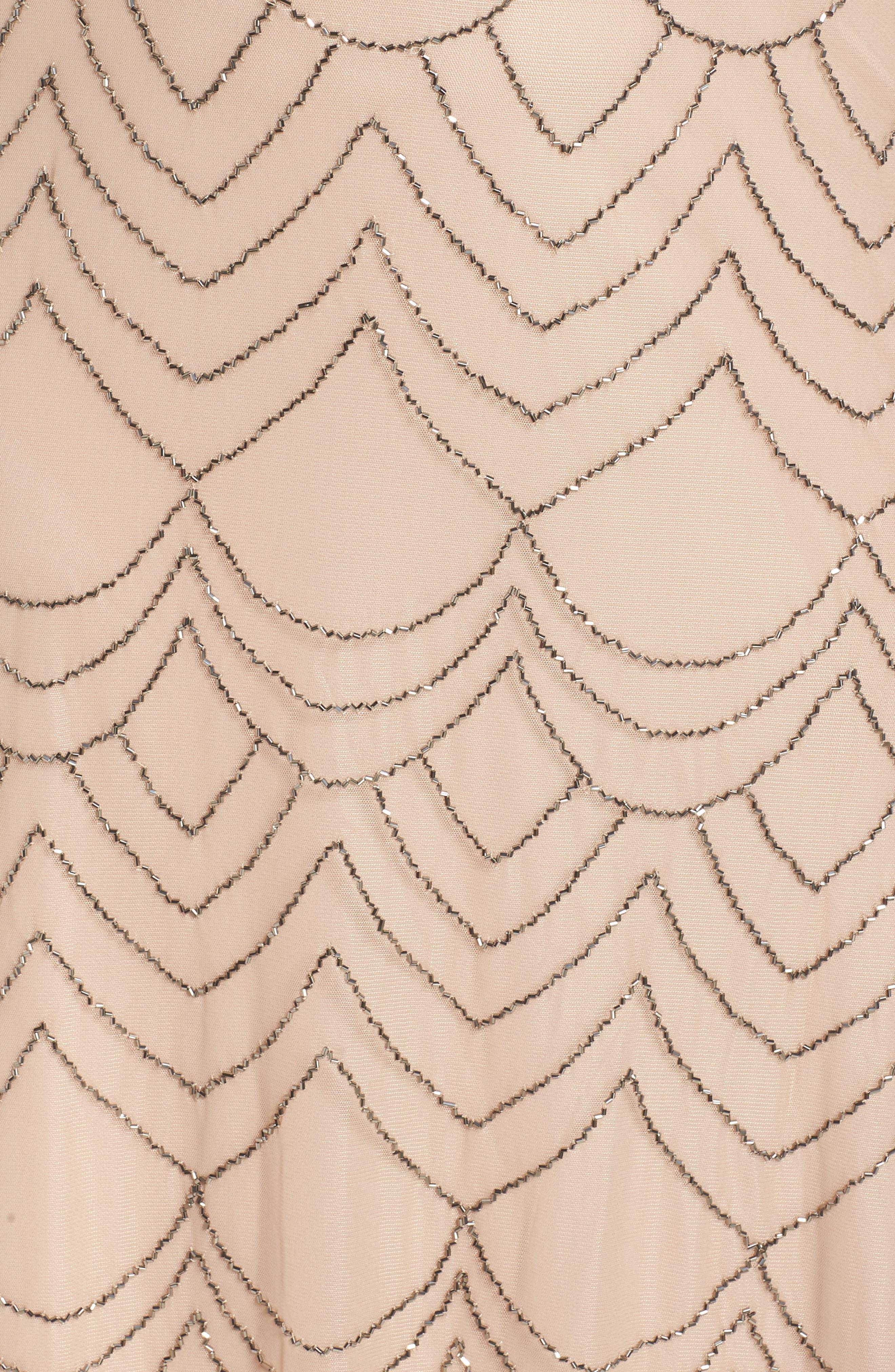 Beaded Blouson Gown,                             Alternate thumbnail 6, color,                             657