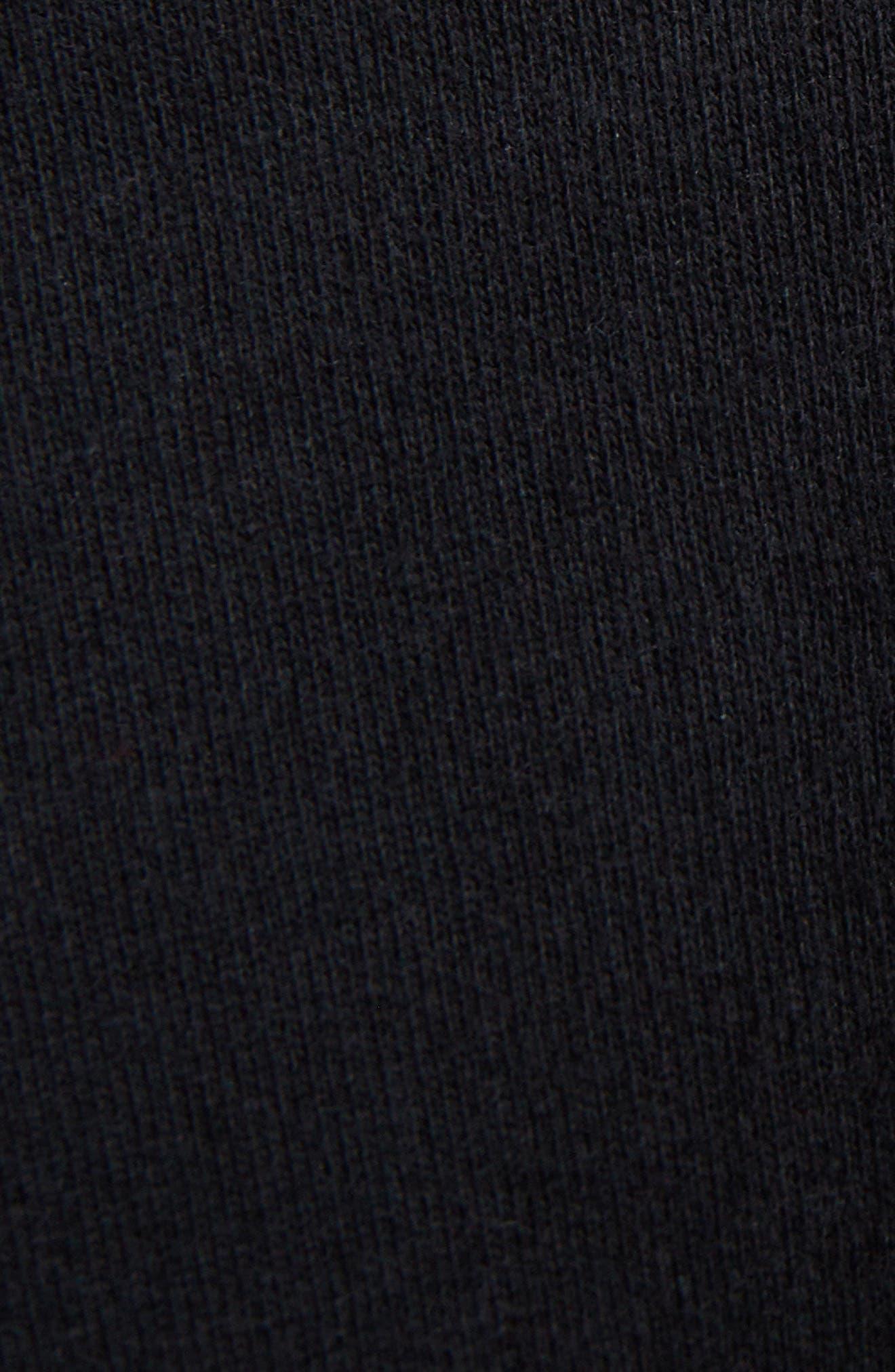 Raw Edge Logo Sweatshirt,                             Alternate thumbnail 5, color,                             WASHED BLACK