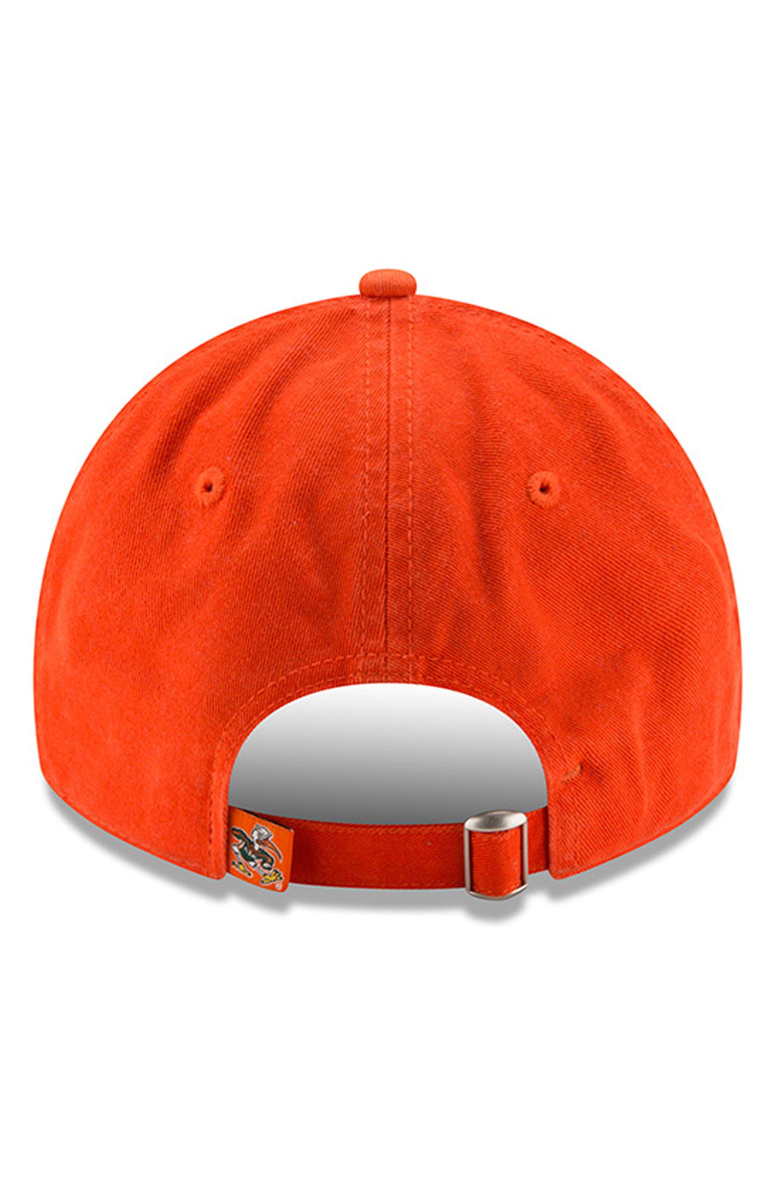 New Era Collegiate Core Classic - Miami Hurricanes Baseball Cap,                             Alternate thumbnail 3, color,