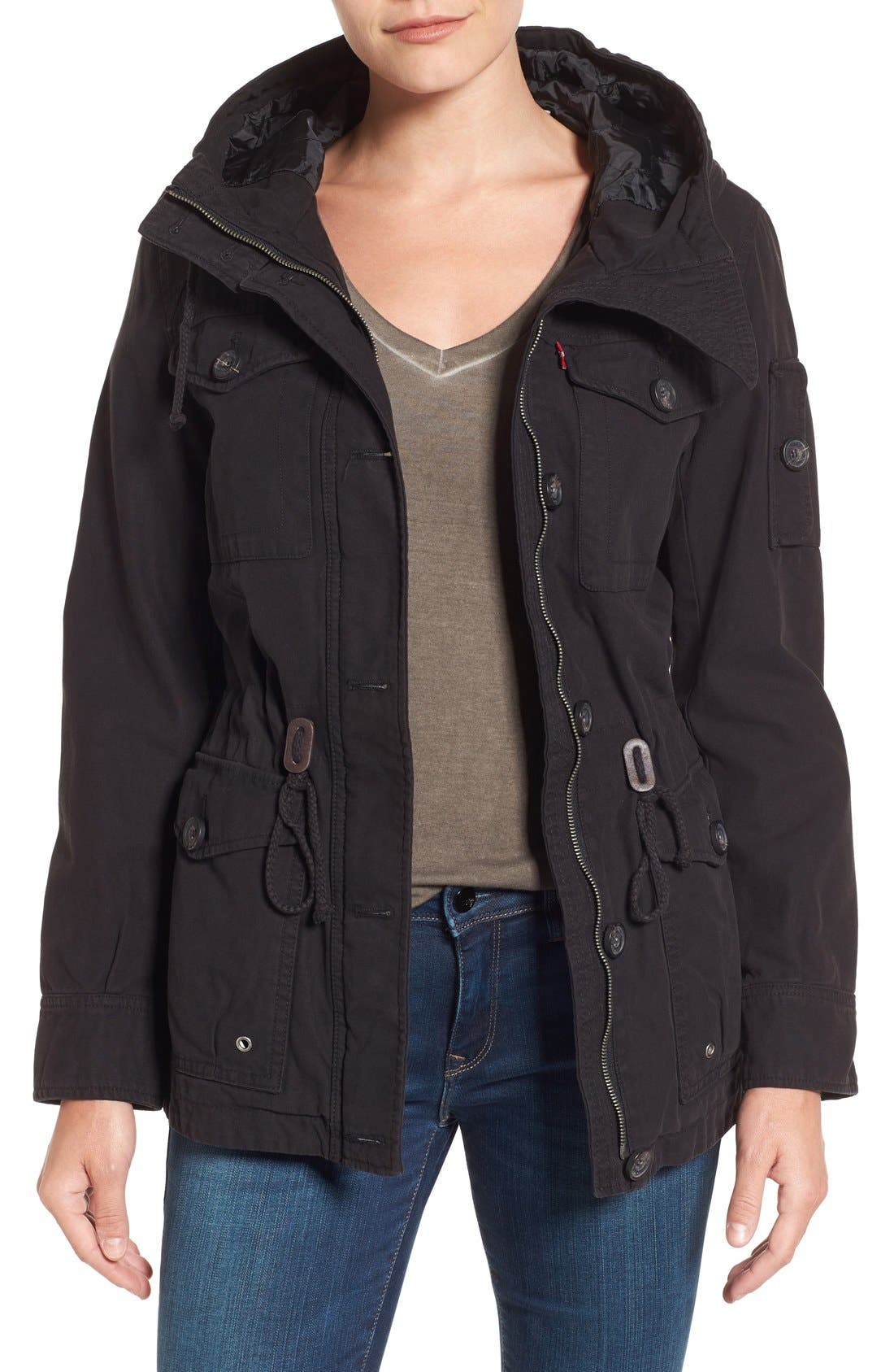 Cotton Twill Utility Jacket,                         Main,                         color, 001
