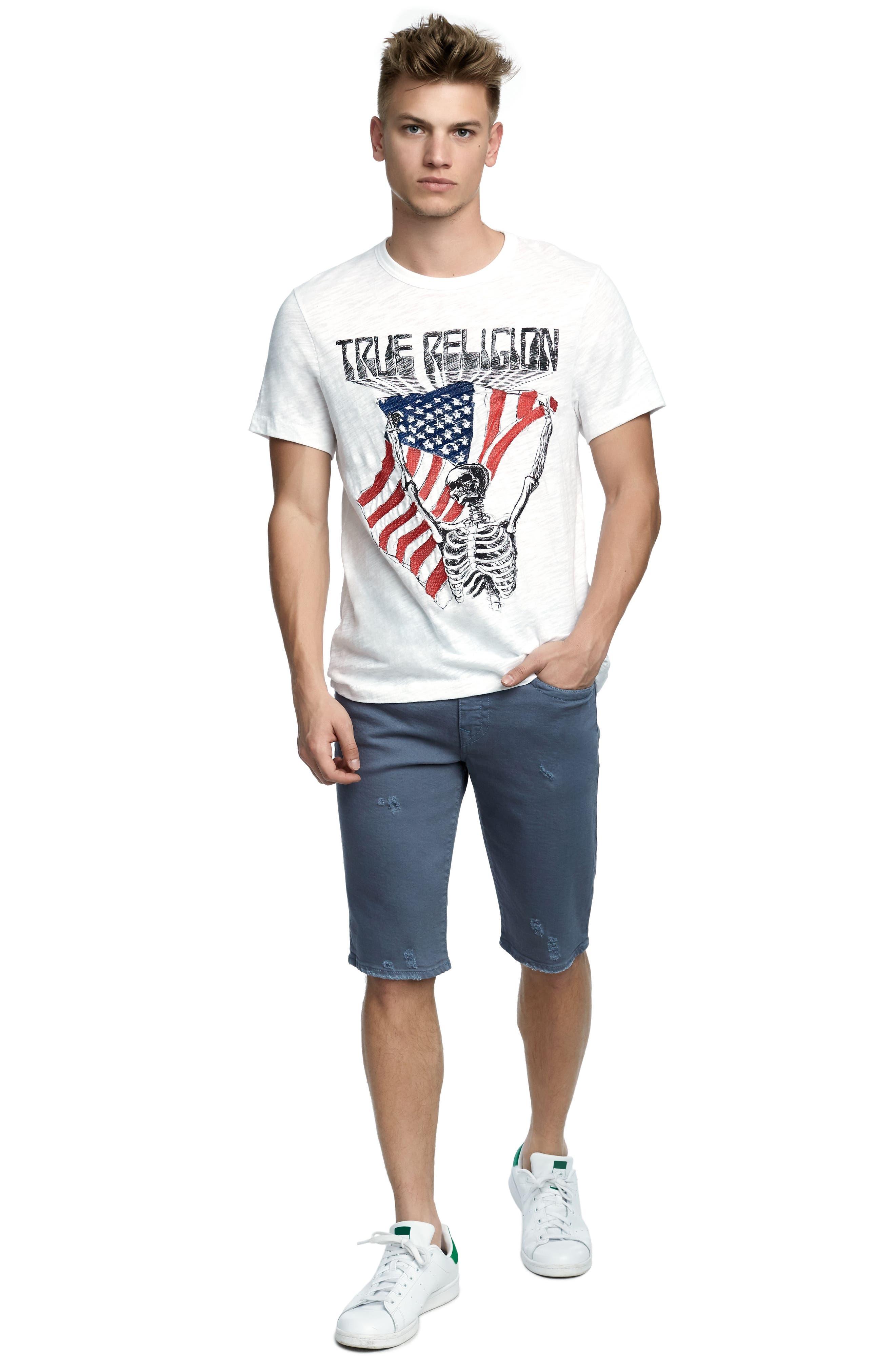 TRUE RELIGION BRAND JEANS,                             Born Free T-Shirt,                             Alternate thumbnail 3, color,                             100