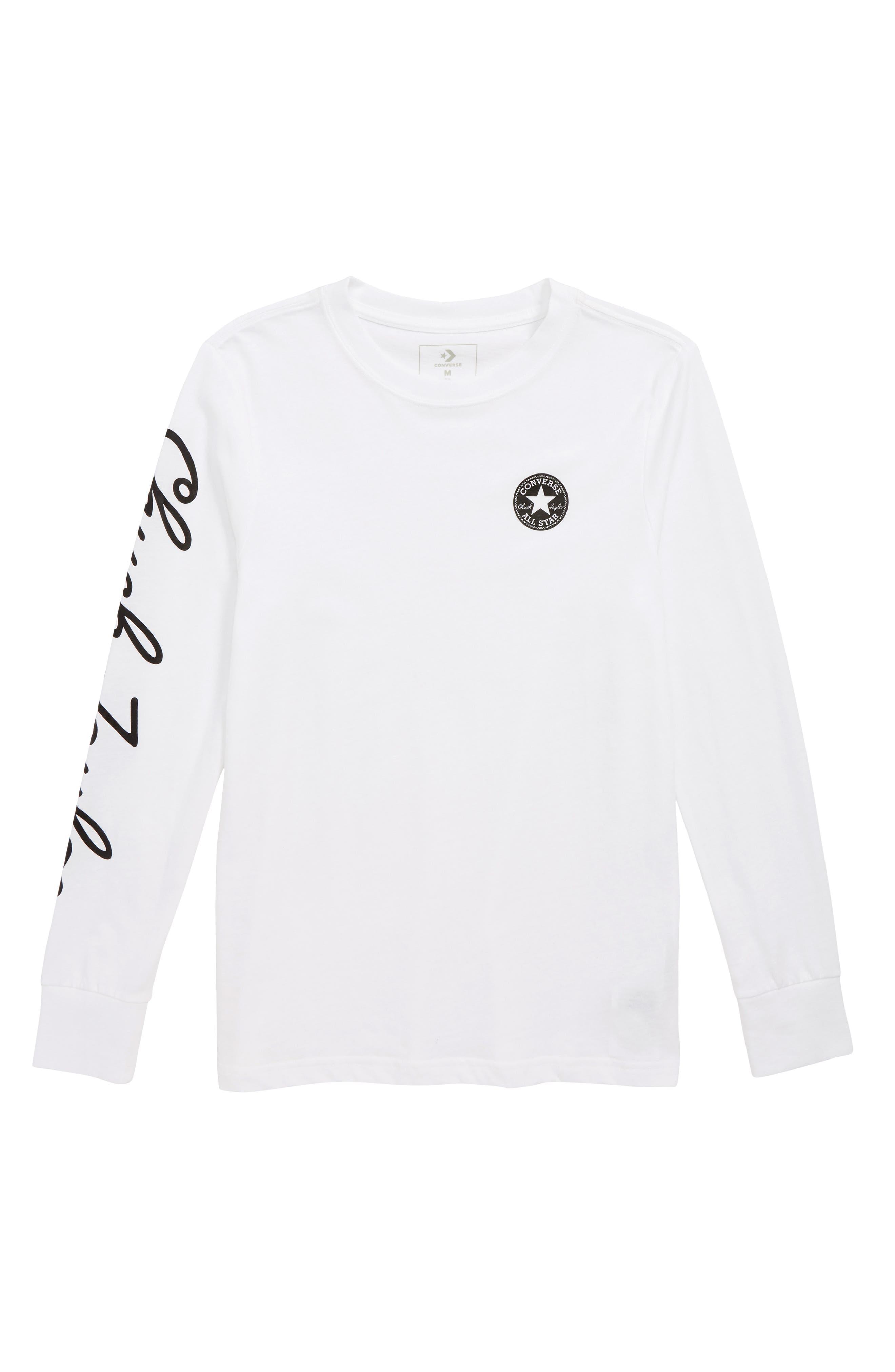 Chuck Taylor<sup>®</sup> Script T-Shirt,                         Main,                         color, 100