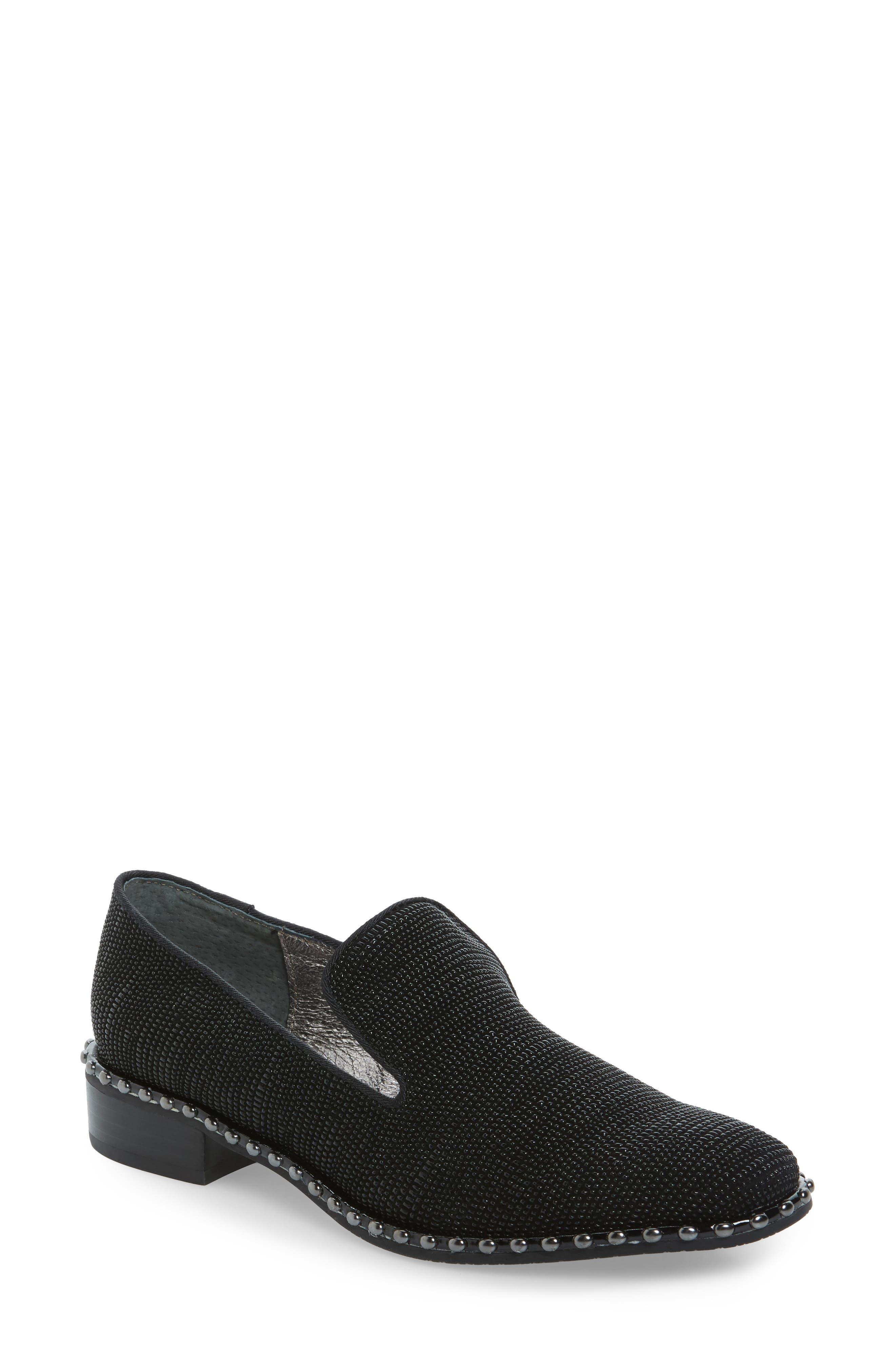 'Prince' Studded Smoking Slipper Flat,                         Main,                         color, 011