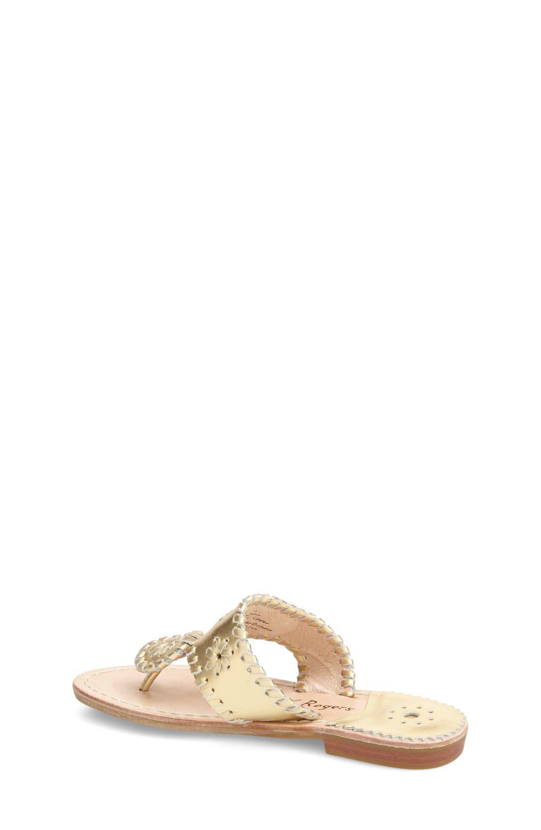 'Miss Hamptons' Sandal,                             Alternate thumbnail 2, color,                             GOLD
