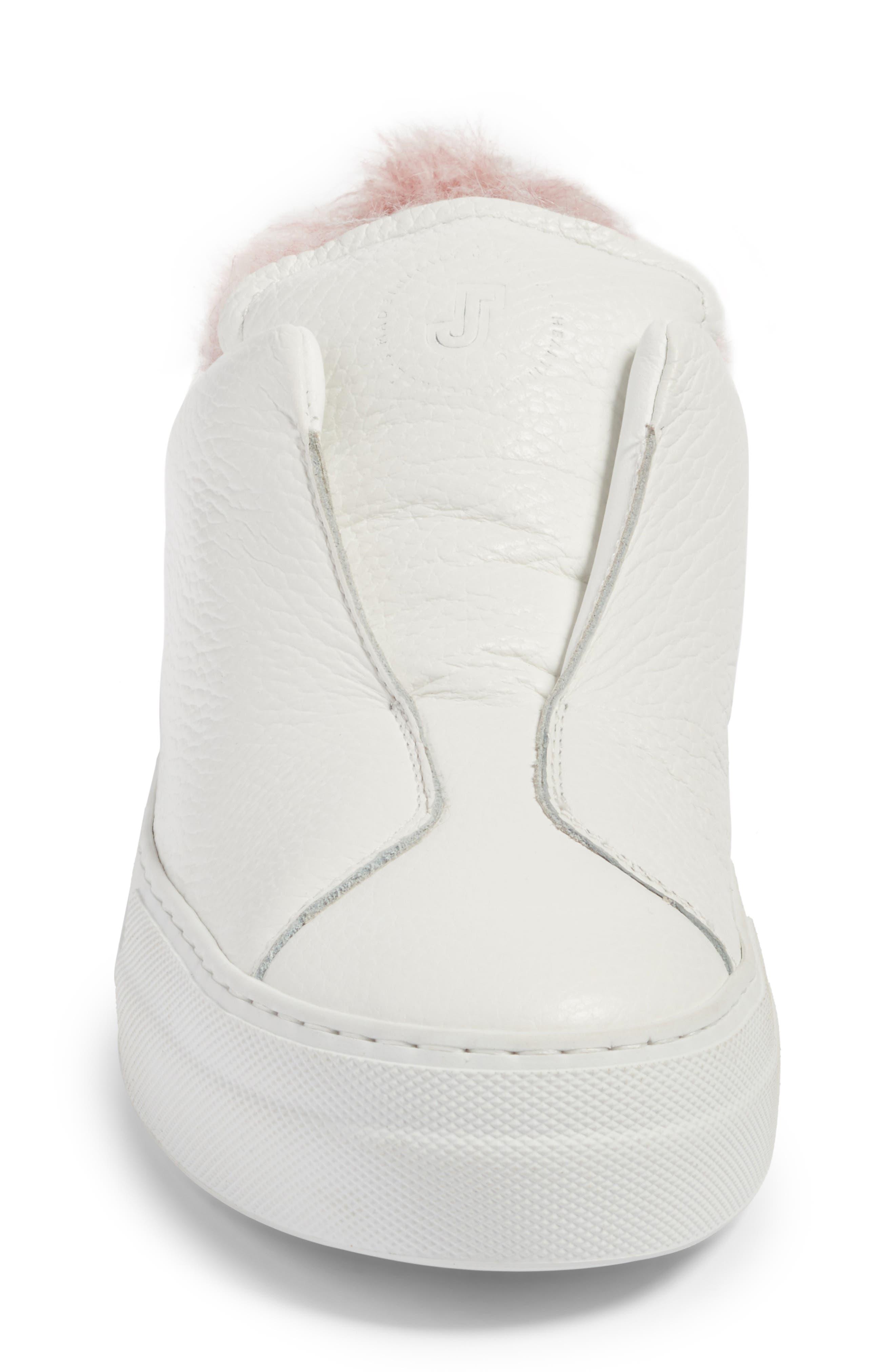 Faux Fur Slip-On Sneaker,                             Alternate thumbnail 8, color,