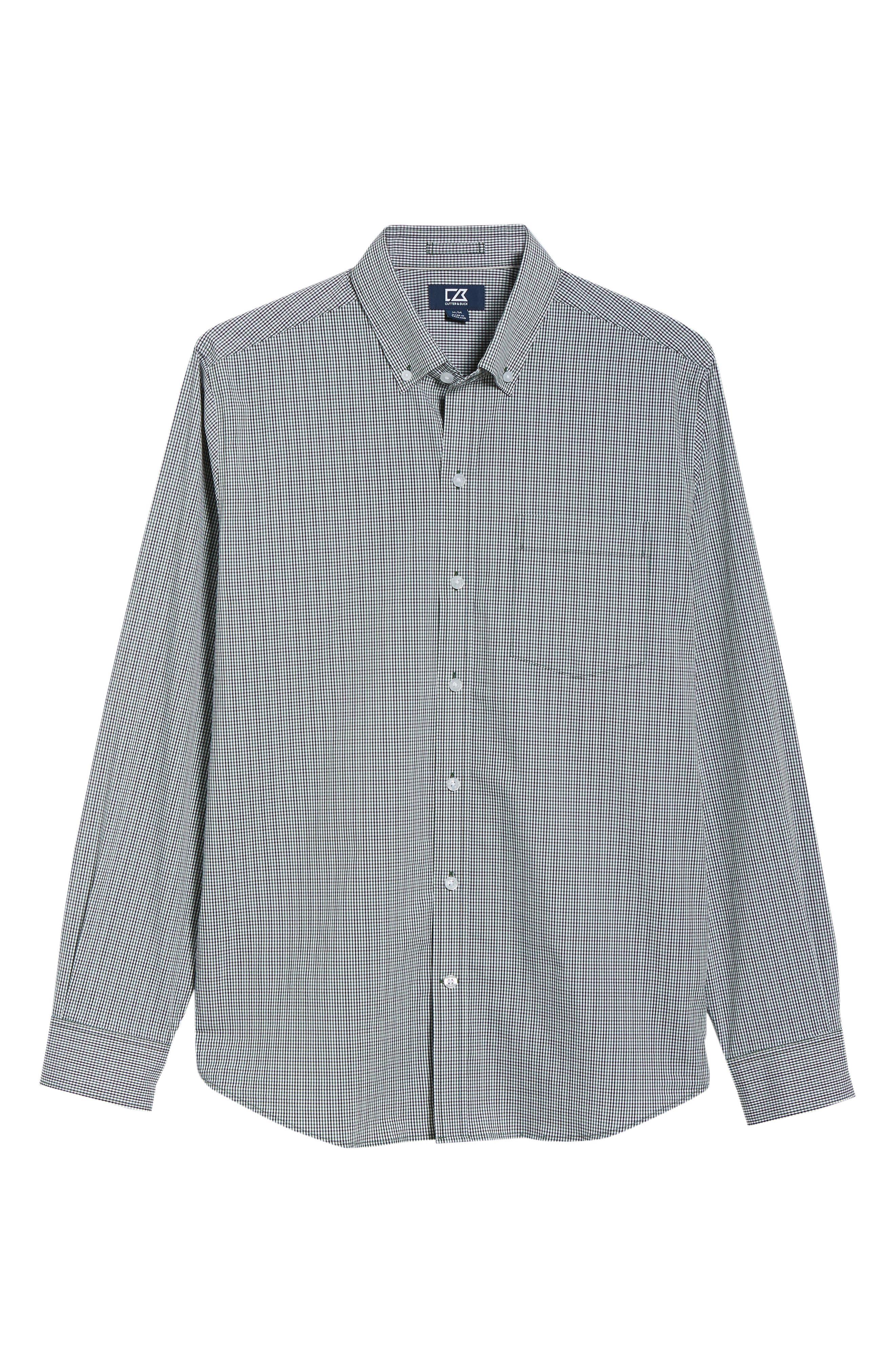 Casey Regular Fit Check Sport Shirt,                             Alternate thumbnail 5, color,                             HUNTER